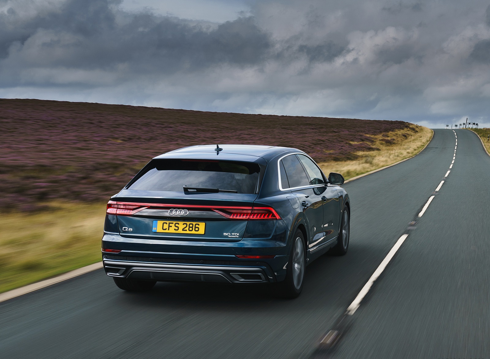 2019 Audi Q8 S Line 50 TDI Quattro (UK-Spec) Rear Wallpaper (7)