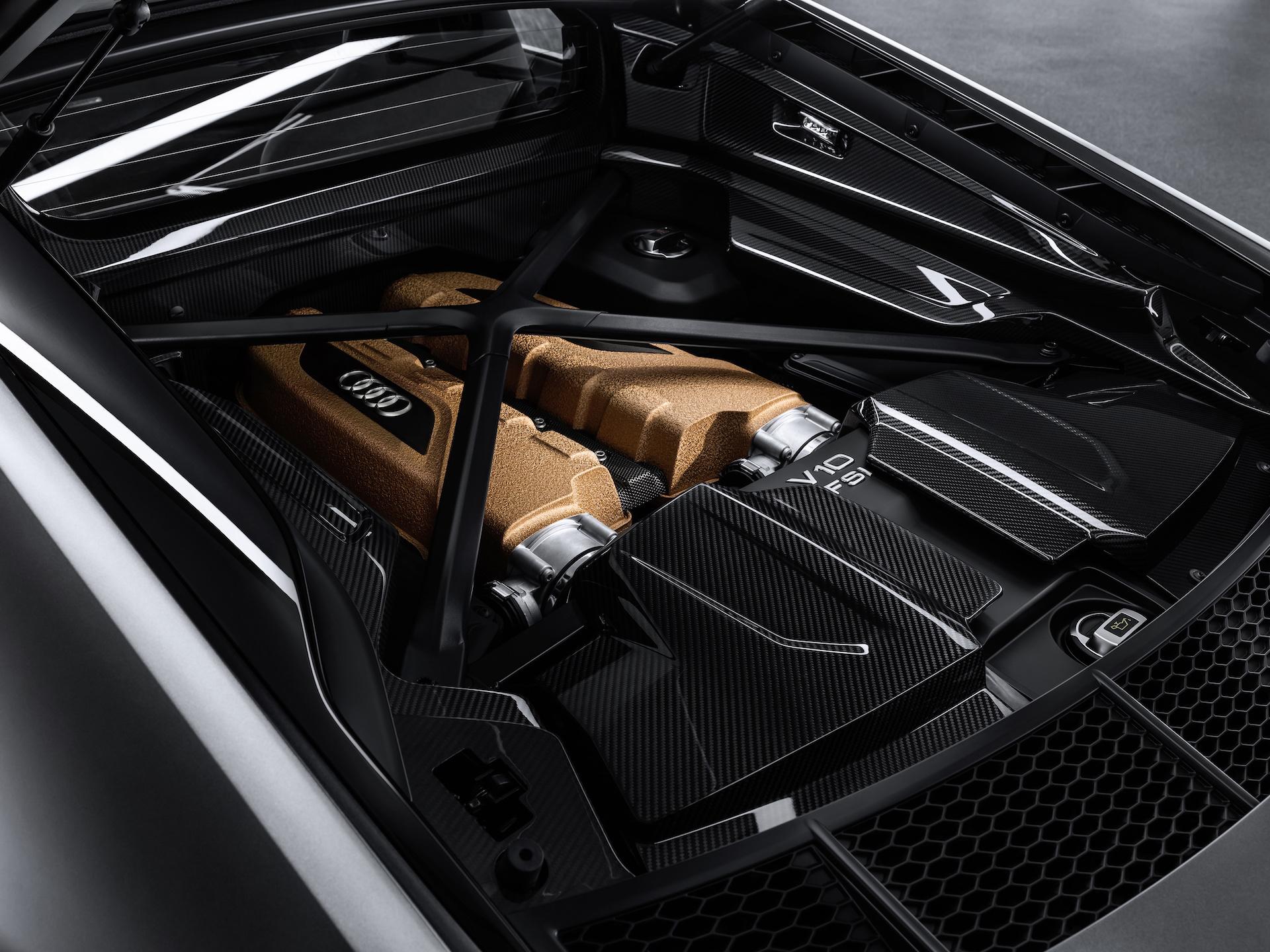 2019 Audi R8 V10 Decennium (Color: Daytona Gray Matt) Engine Wallpaper (7)