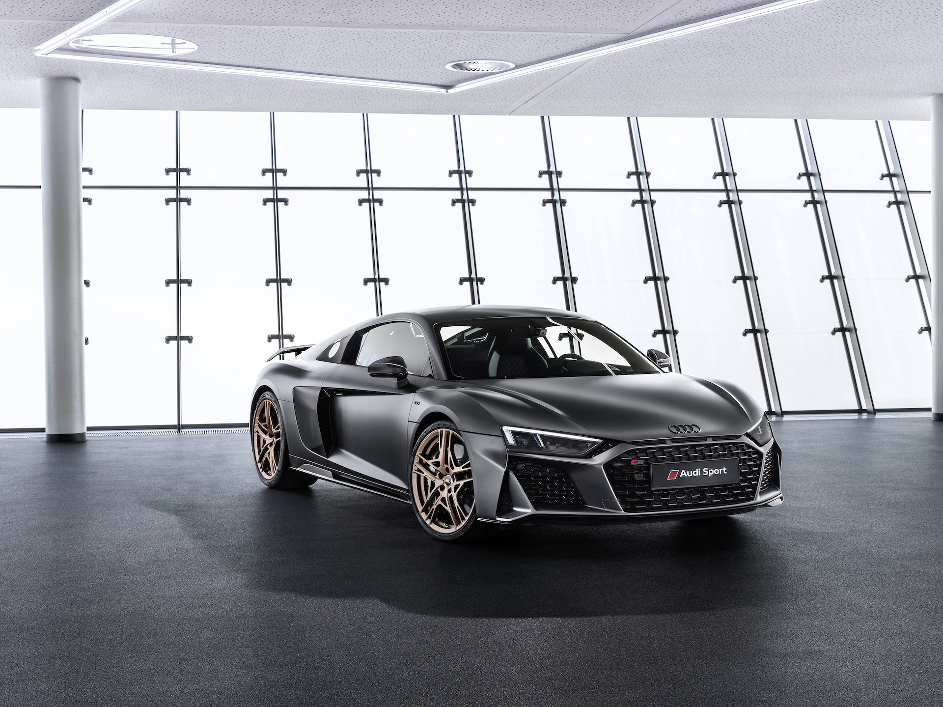 2019 Audi R8 V10 Decennium (Color: Daytona Gray Matt) Front Wallpapers (2)