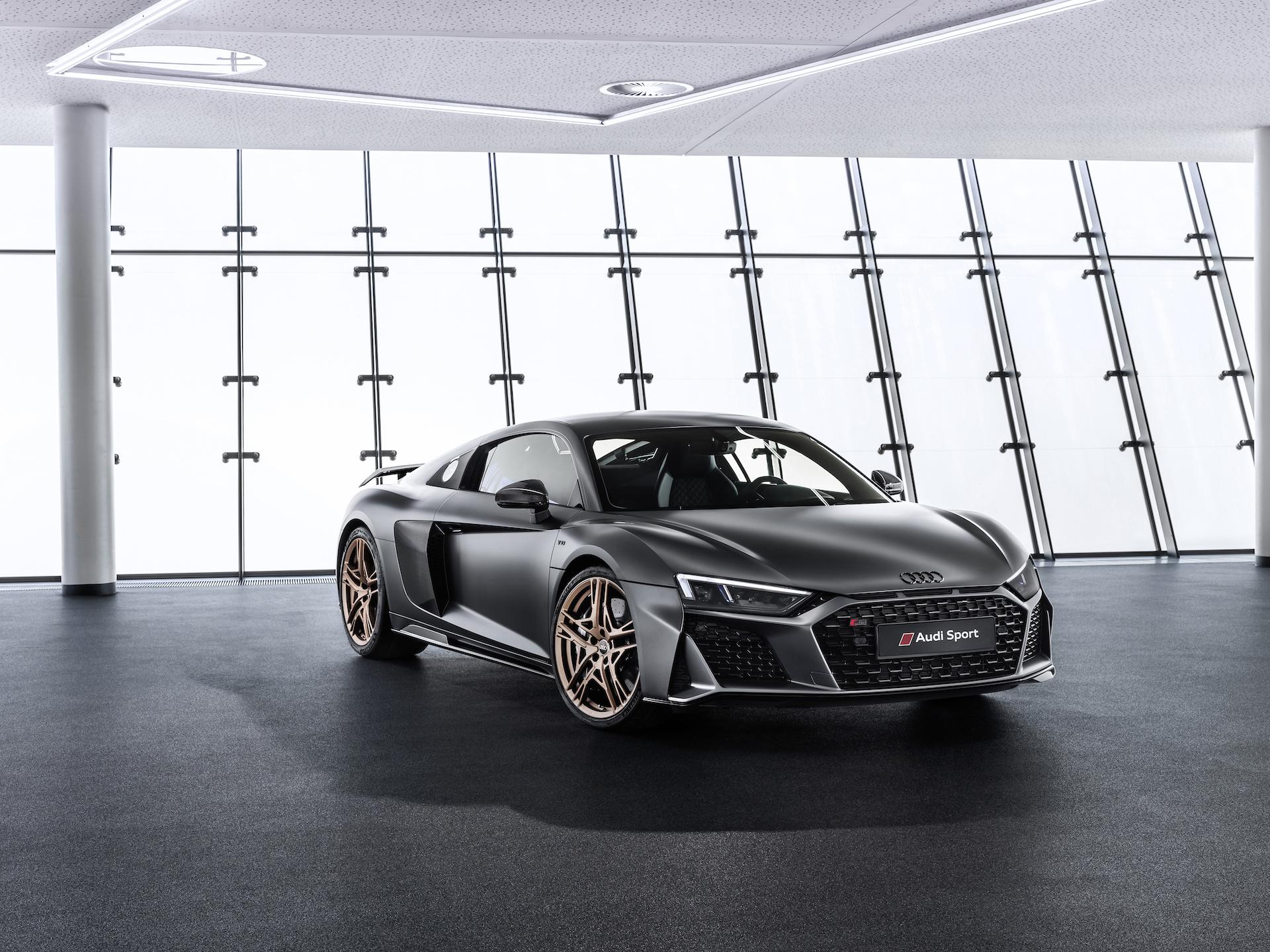 2019 Audi R8 V10 Decennium (Color: Daytona Gray Matt) Front Wallpaper (2)