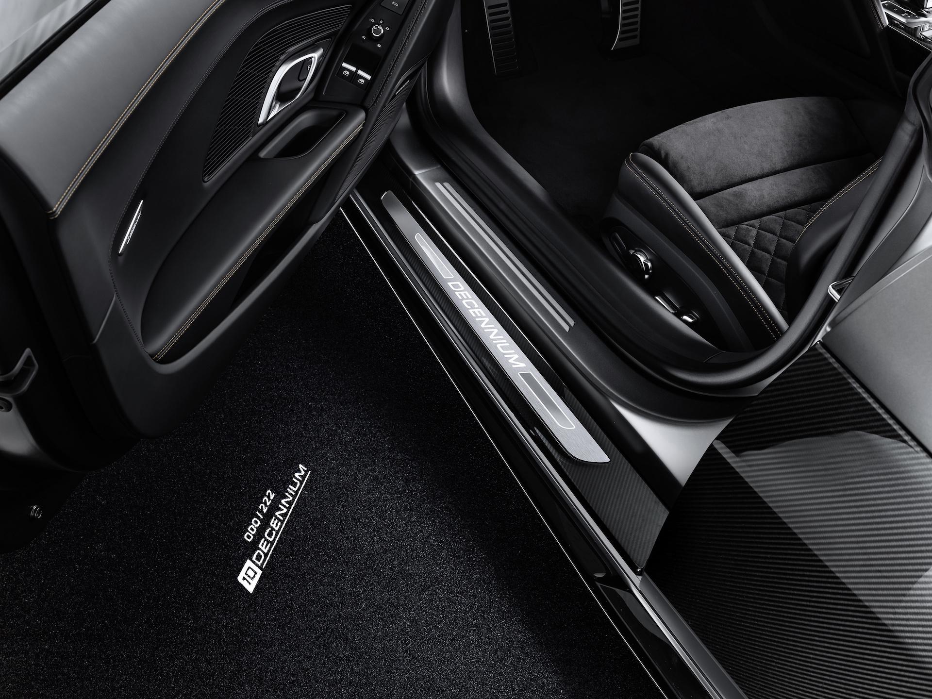 2019 Audi R8 V10 Decennium (Color: Daytona Gray Matt) Ground Projection Wallpaper (9)