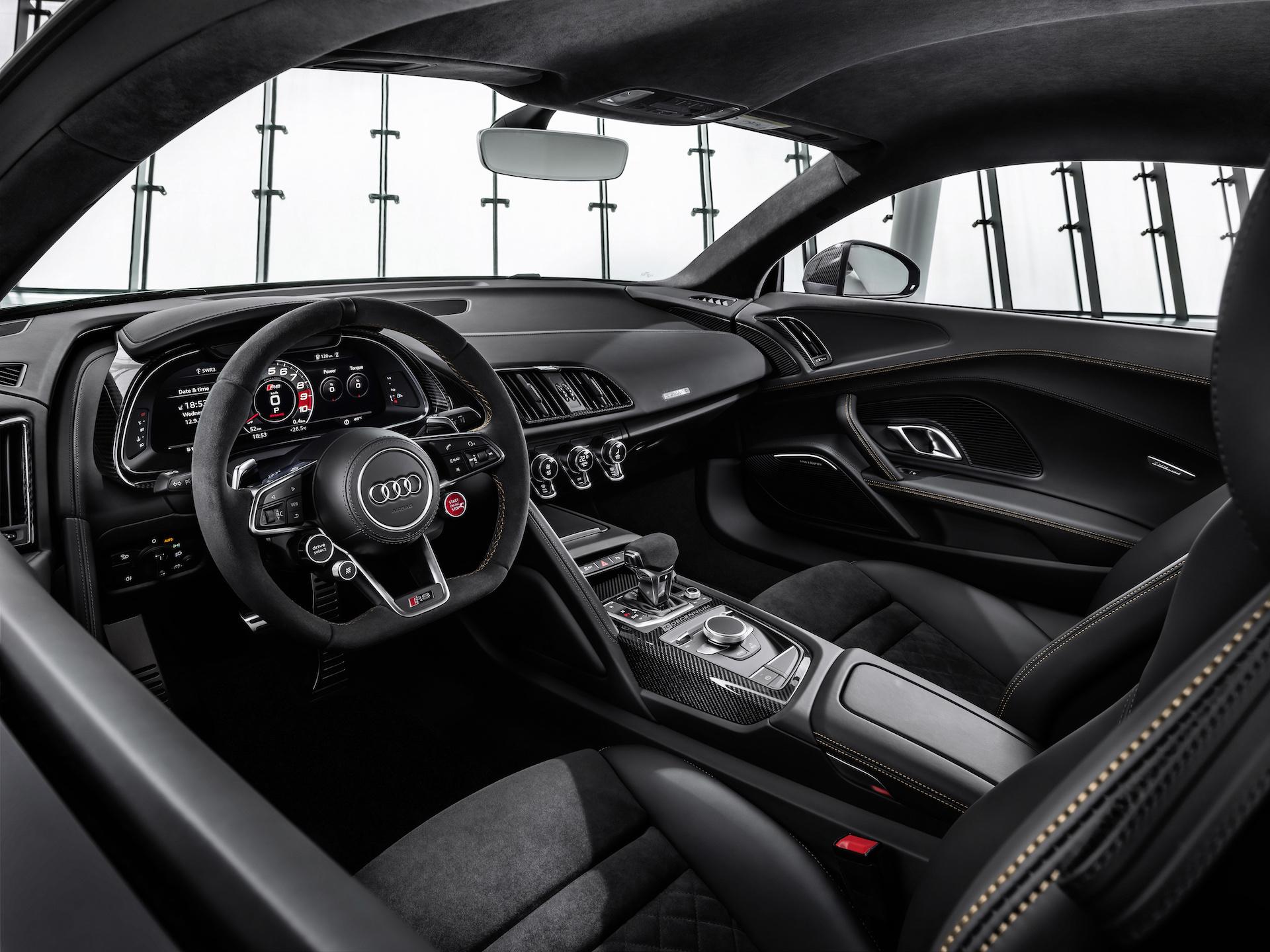 2019 Audi R8 V10 Decennium (Color: Daytona Gray Matt) Interior Cockpit Wallpaper (11)