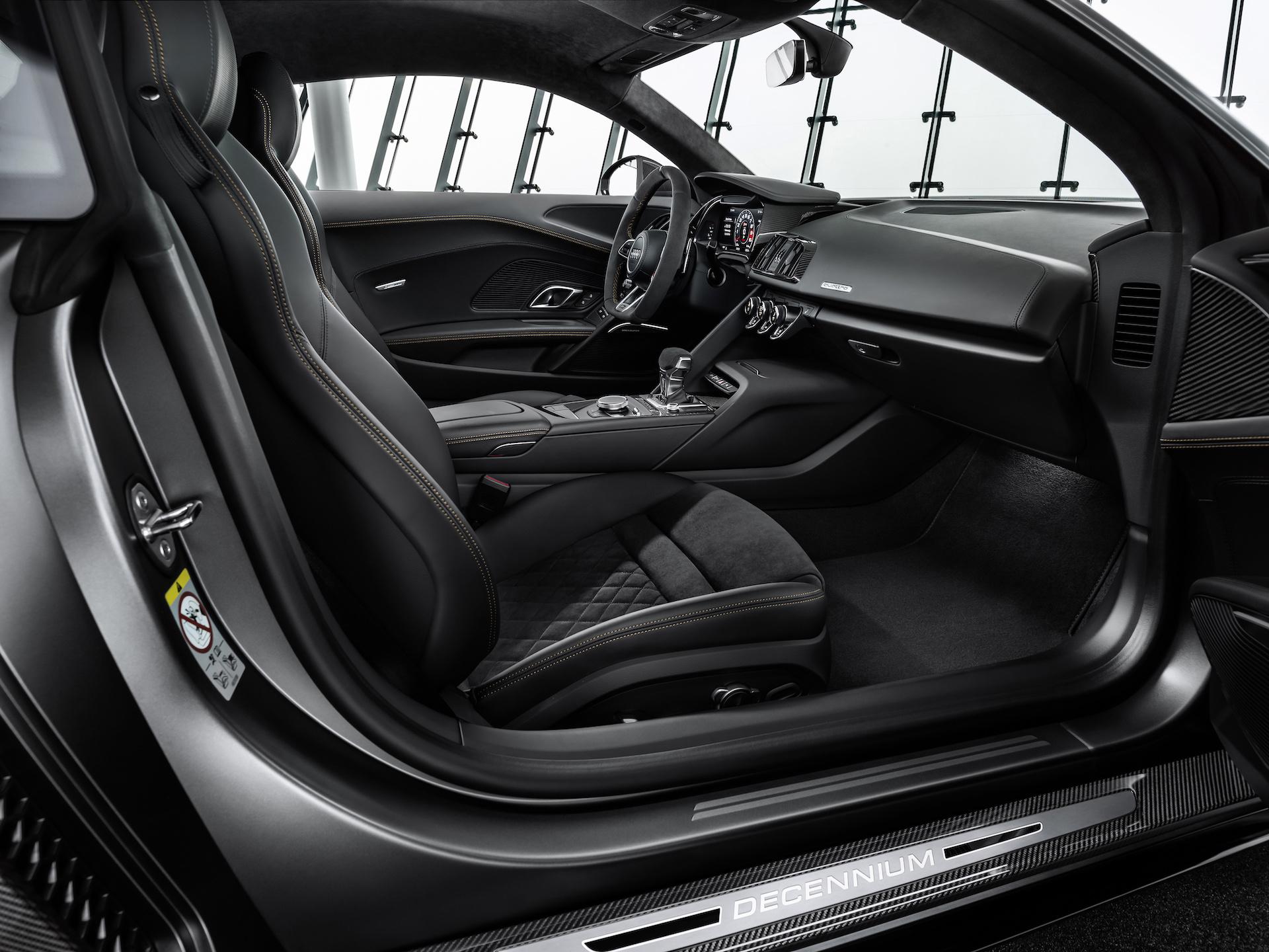 2019 Audi R8 V10 Decennium (Color: Daytona Gray Matt) Interior Front Seats Wallpaper (14)