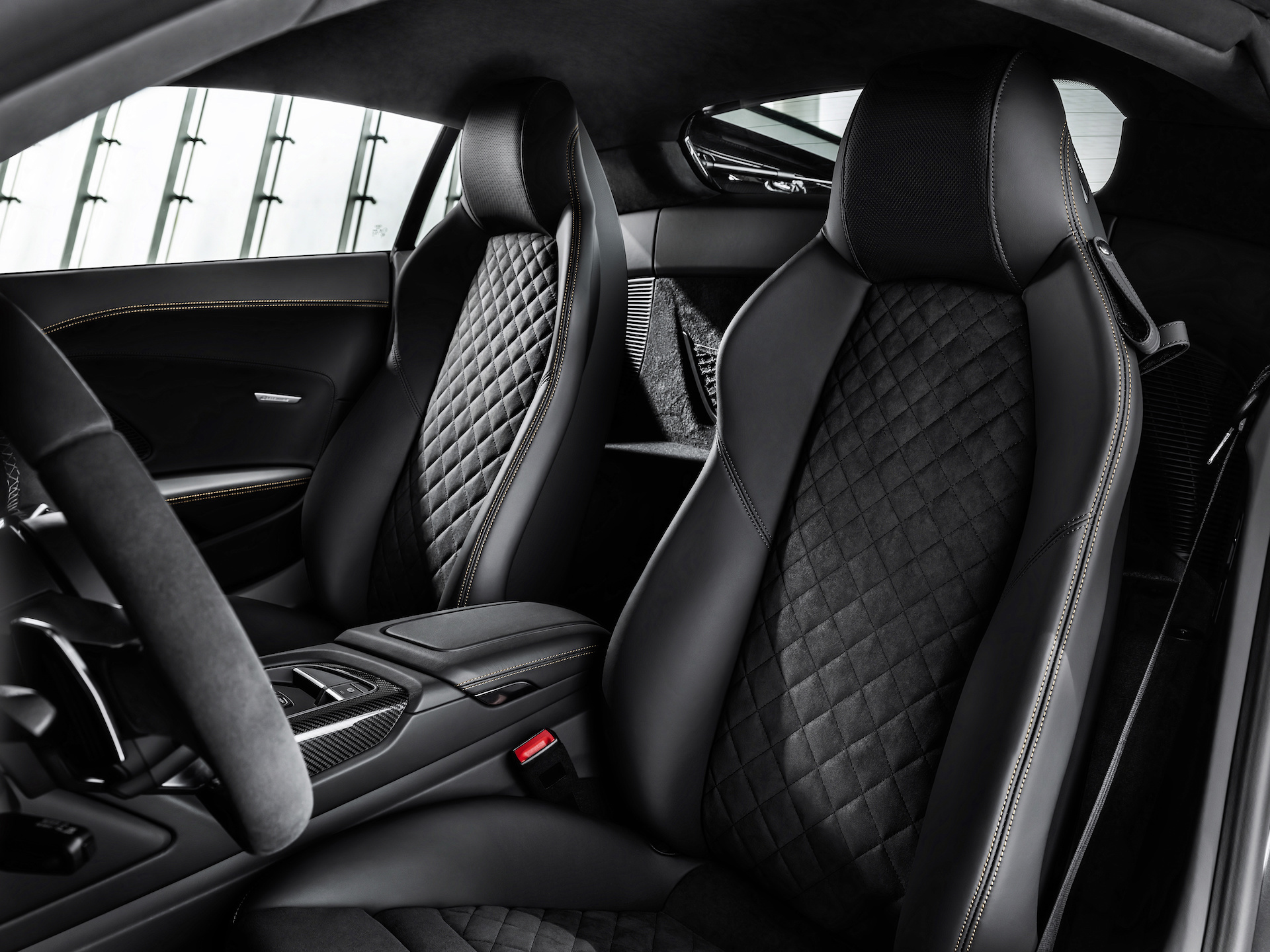 2019 Audi R8 V10 Decennium (Color: Daytona Gray Matt) Interior Wallpapers (10)