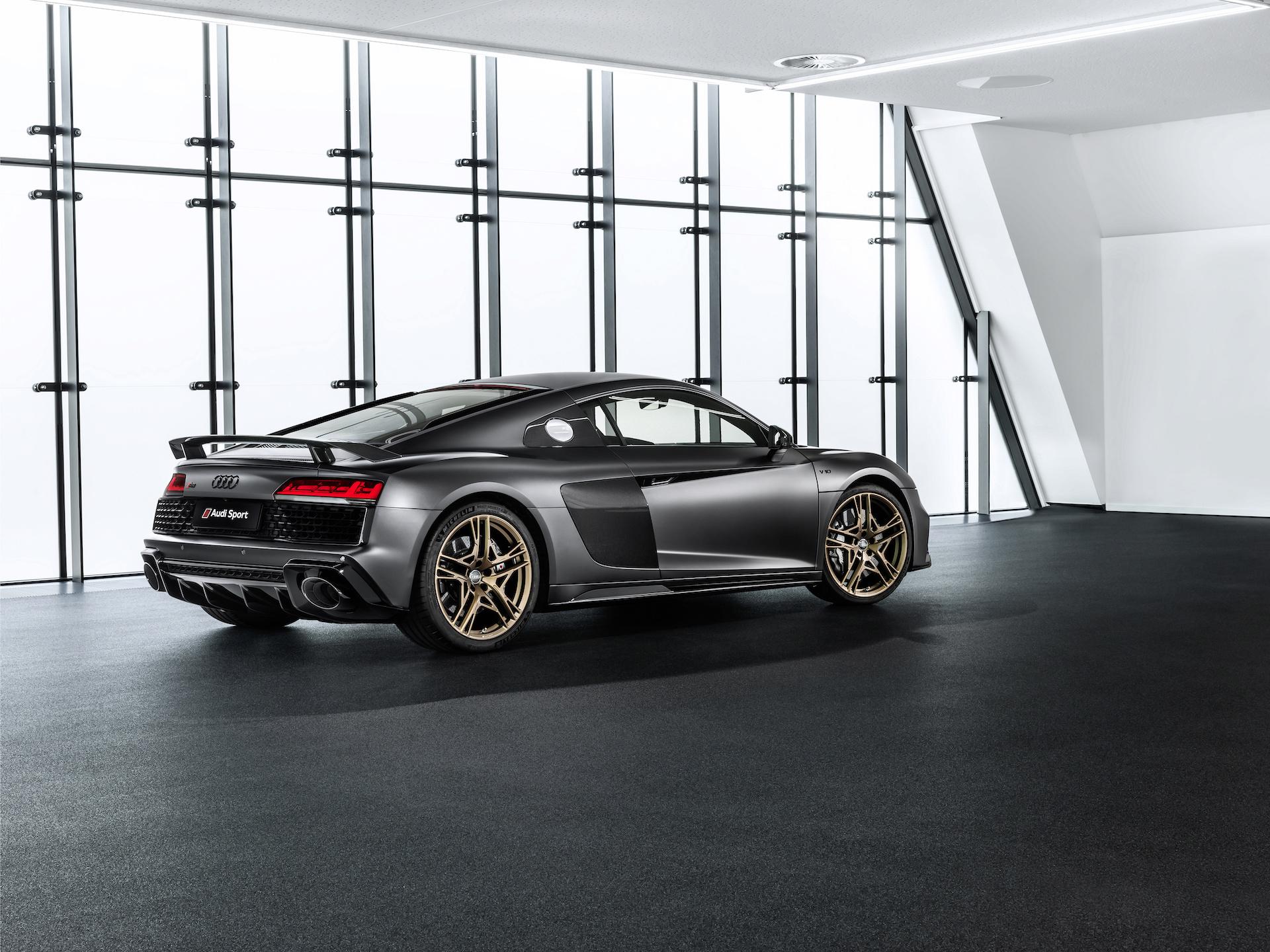 2019 Audi R8 V10 Decennium (Color: Daytona Gray Matt) Rear Three-Quarter Wallpapers (3)