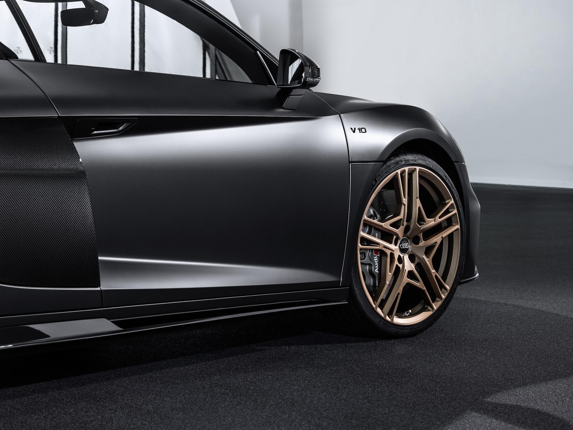2019 Audi R8 V10 Decennium (Color: Daytona Gray Matt) Side Wallpaper (5)