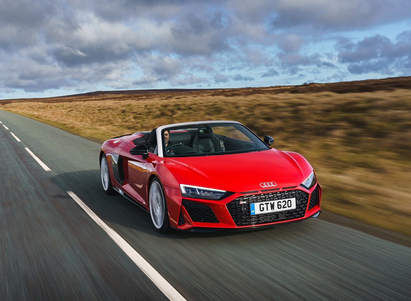 2019 Audi R8 V10 Spyder Performance quattro (UK-Spec) Front Wallpapers (2)
