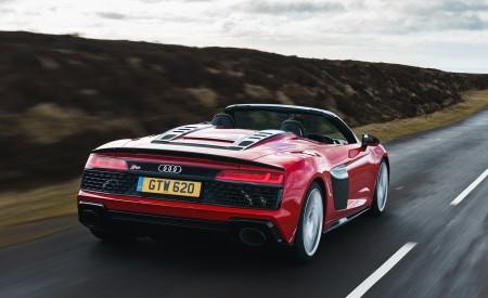 2019 Audi R8 V10 Spyder Performance quattro (UK-Spec) Rear Three-Quarter Wallpapers 450x275 (7)