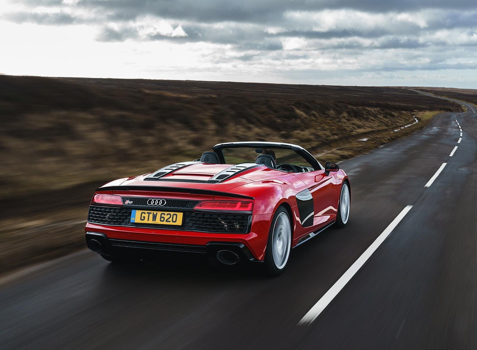 2019 Audi R8 V10 Spyder Performance quattro (UK-Spec) Rear Three-Quarter Wallpaper (10)