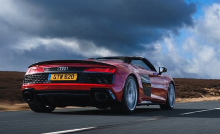 2019 Audi R8 V10 Spyder Performance quattro (UK-Spec) Rear Three-Quarter Wallpapers 450x275 (8)