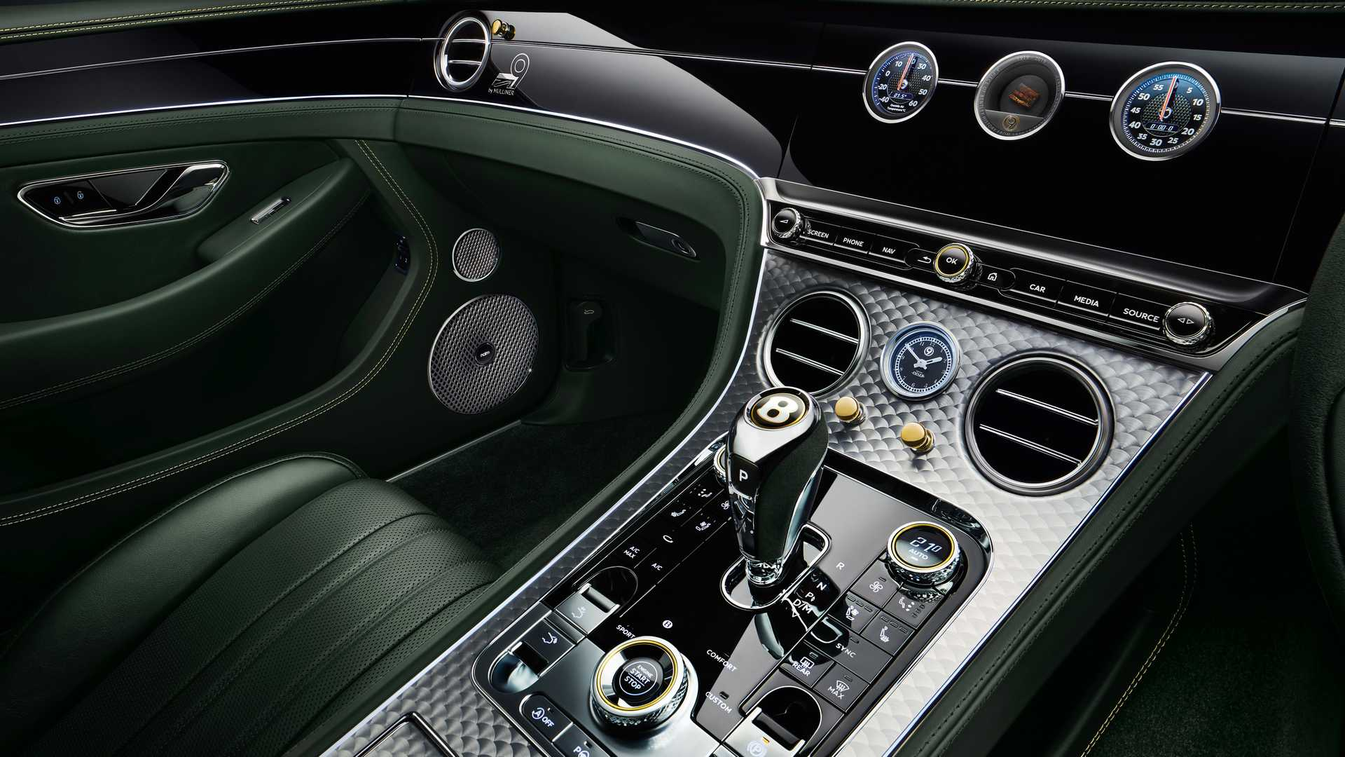 2019 Bentley Continental GT Number 9 Edition by Mulliner Interior Detail Wallpapers (8)