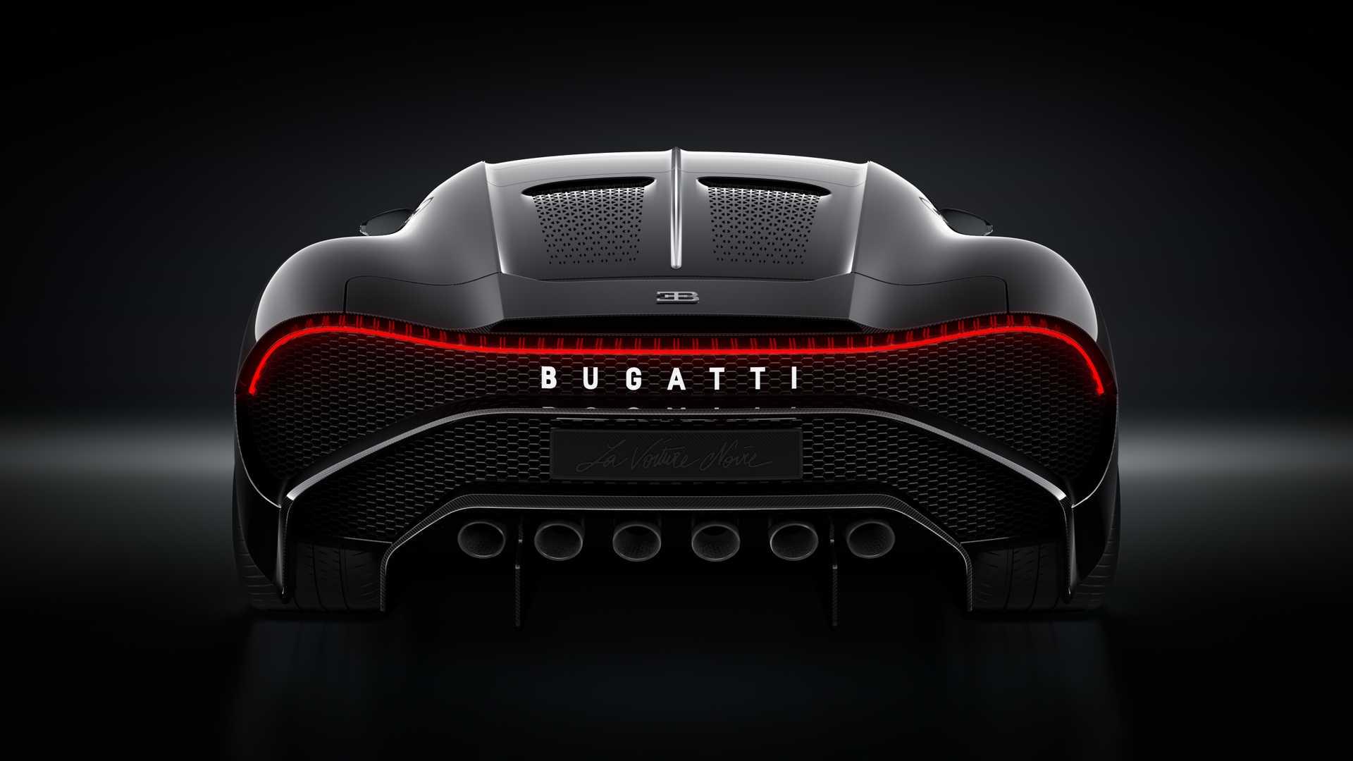 2019 Bugatti La Voiture Noire Rear Wallpapers (11)