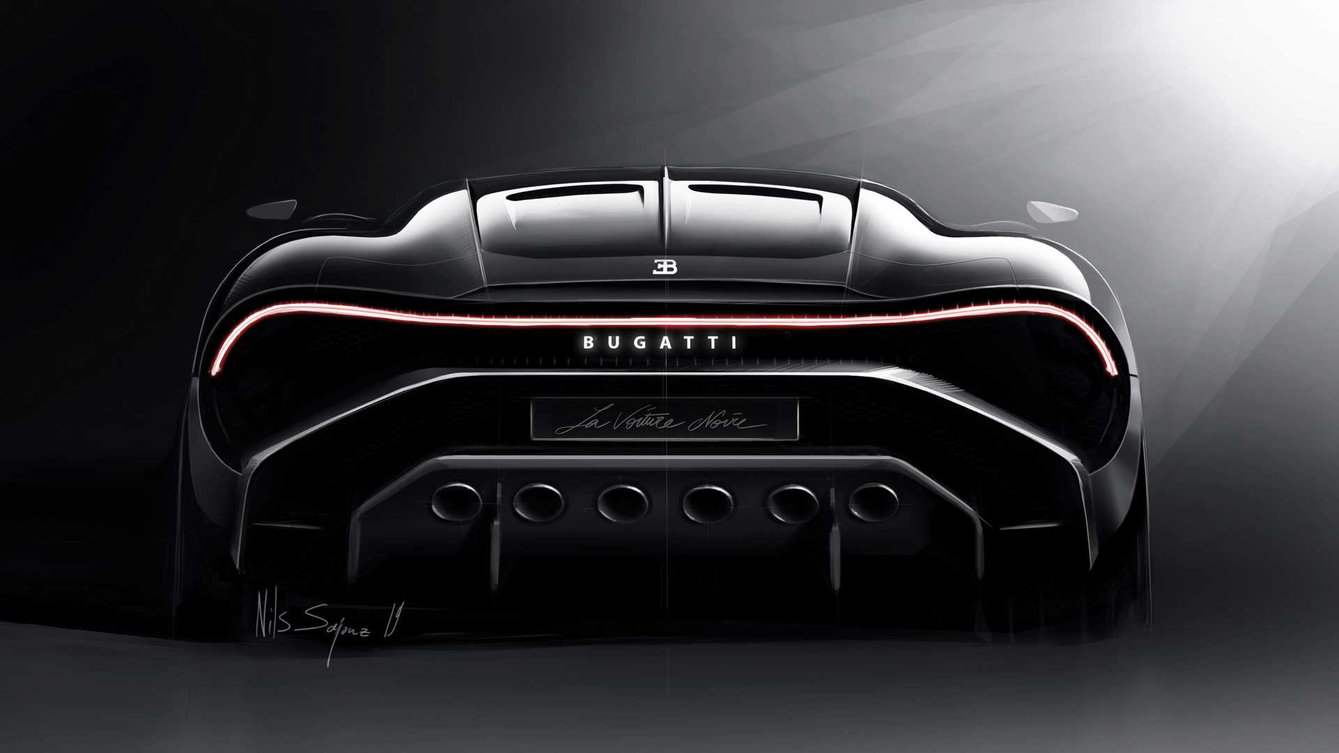 2019 Bugatti La Voiture Noire Rear Wallpapers (10)