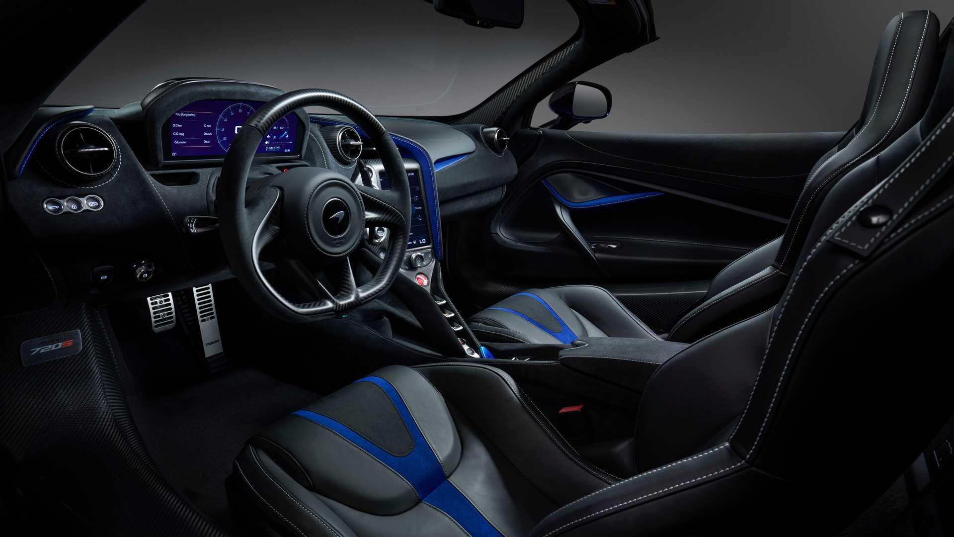 2019 McLaren 720S Spider by MSO Interior Cockpit Wallpapers (9)