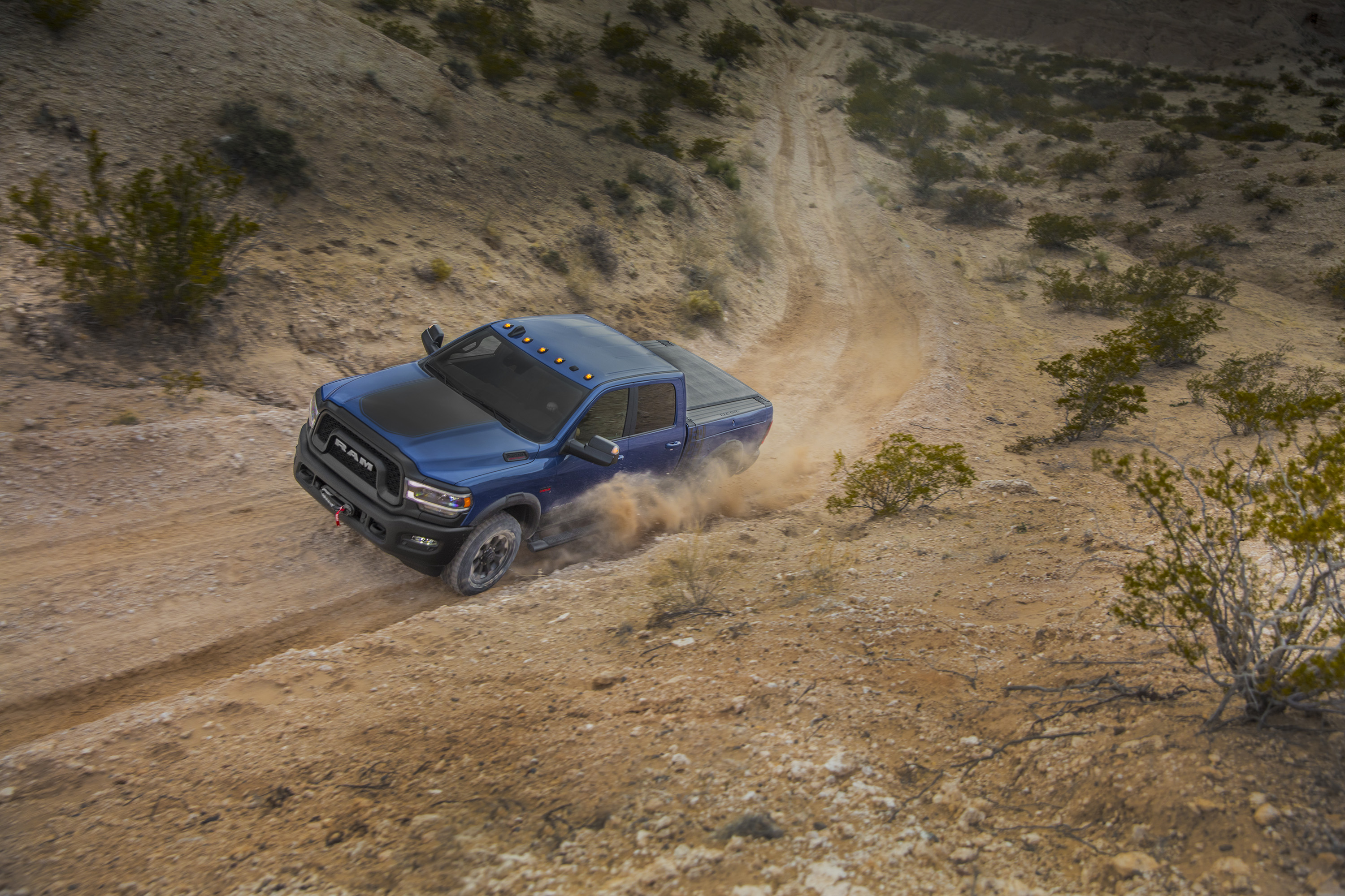 2019 Ram 2500 Power Wagon (Color: Blue Streak) Front Three-Quarter Wallpapers (3)