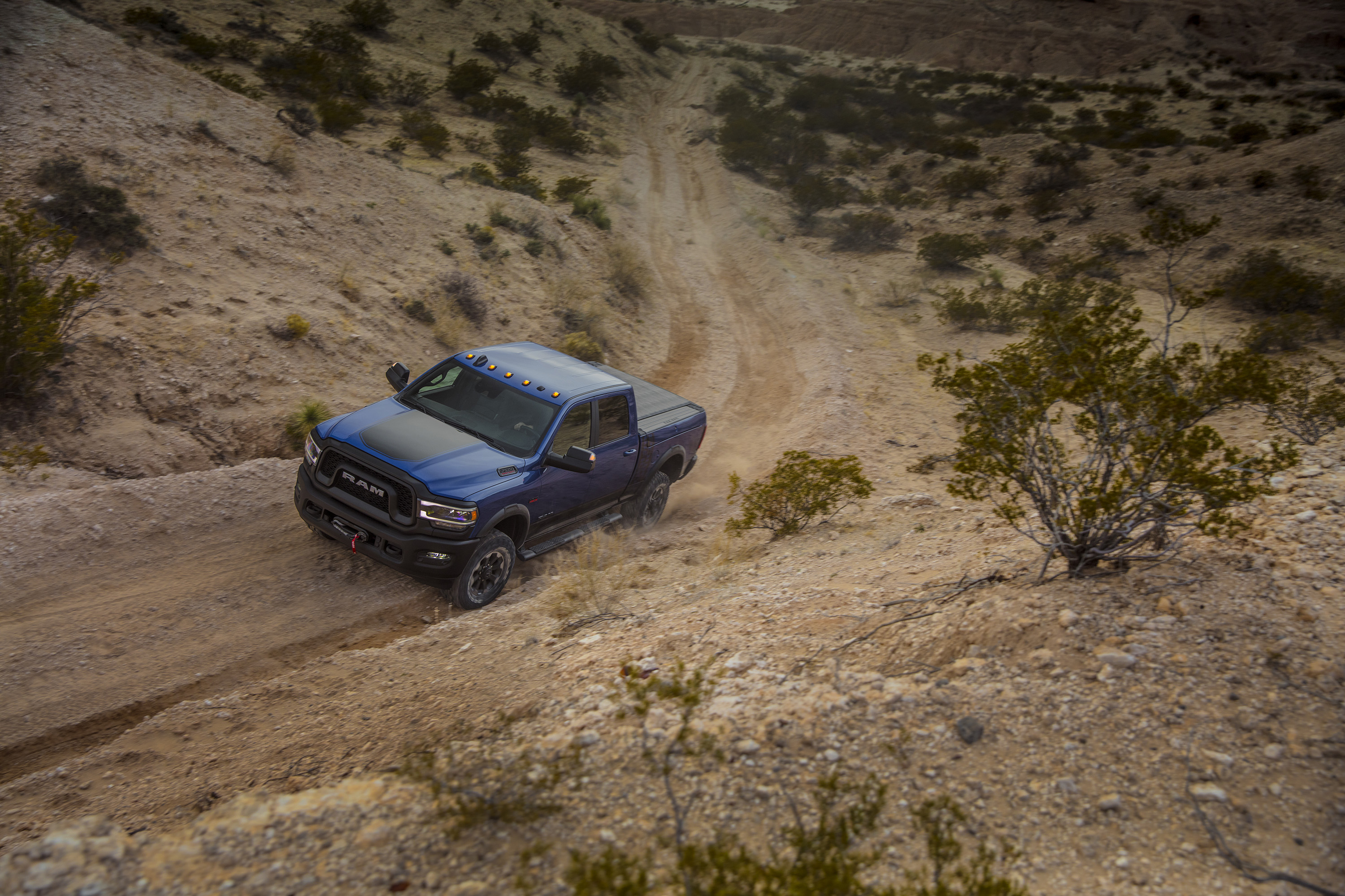 2019 Ram 2500 Power Wagon (Color: Blue Streak) Front Three-Quarter Wallpapers (4)