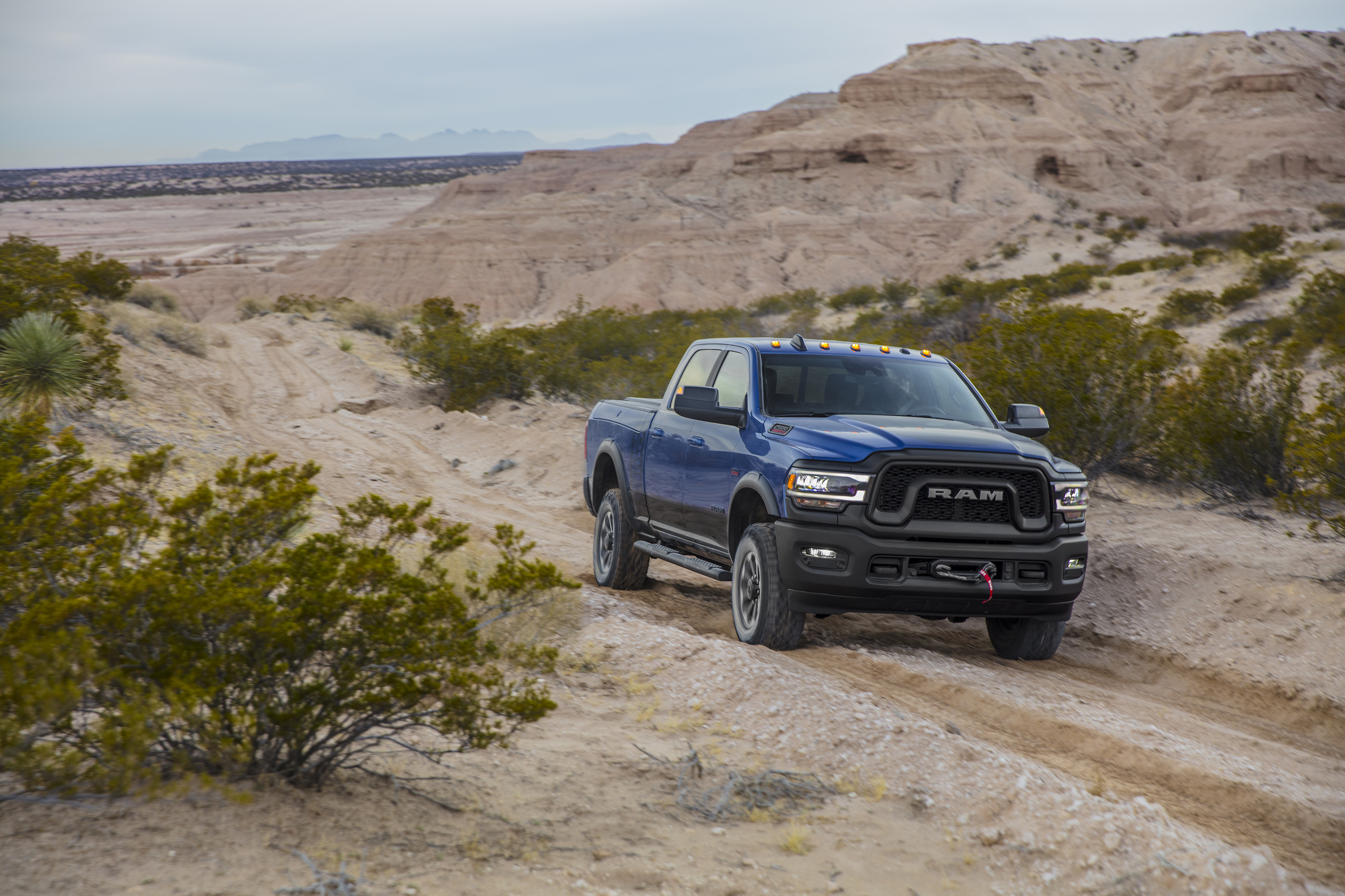 2019 Ram 2500 Power Wagon (Color: Blue Streak) Front Three-Quarter Wallpapers (10)