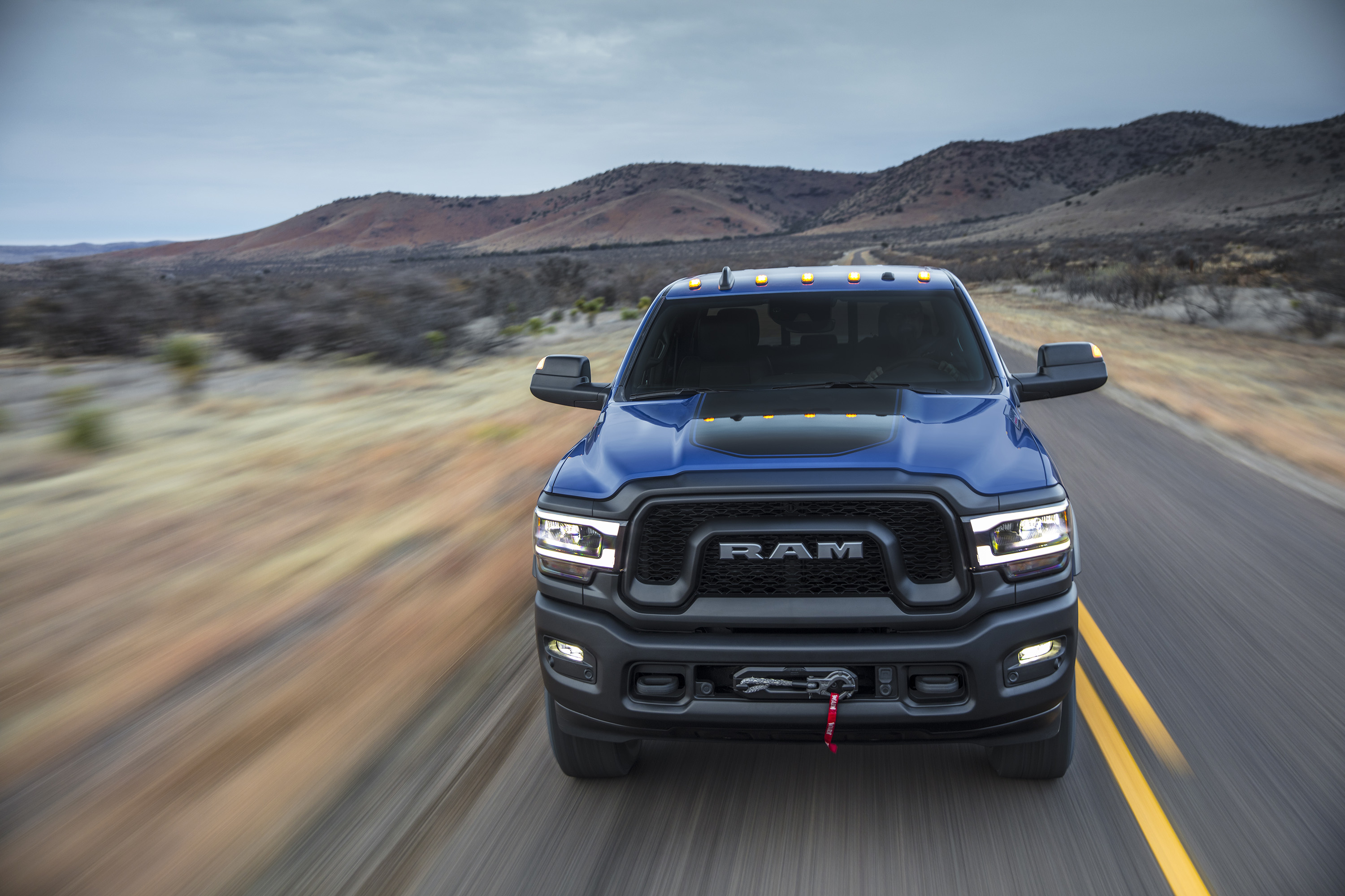 2019 Ram 2500 Power Wagon (Color: Blue Streak) Front Wallpapers (1)