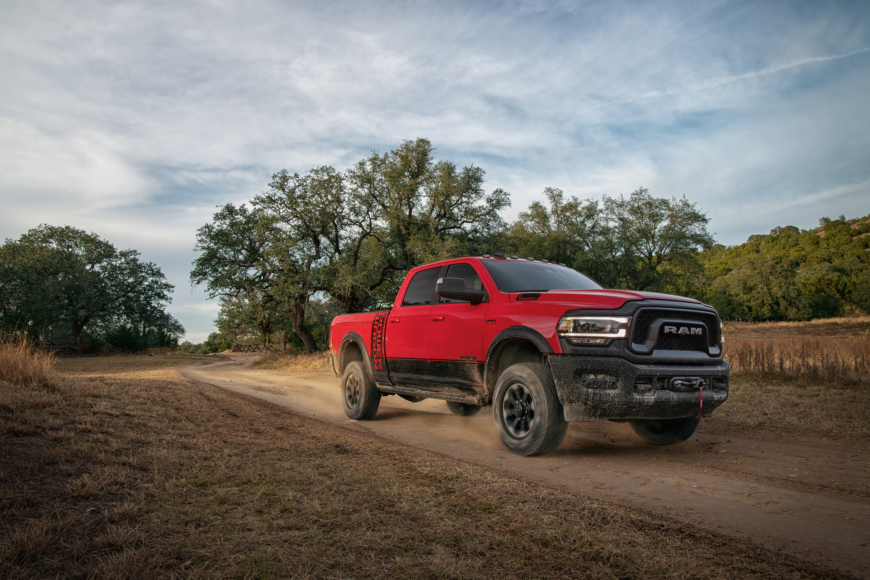 2019 Ram 2500 Power Wagon Color Flame Red Front Three Quarter Wallpapers 33 Newcarcars