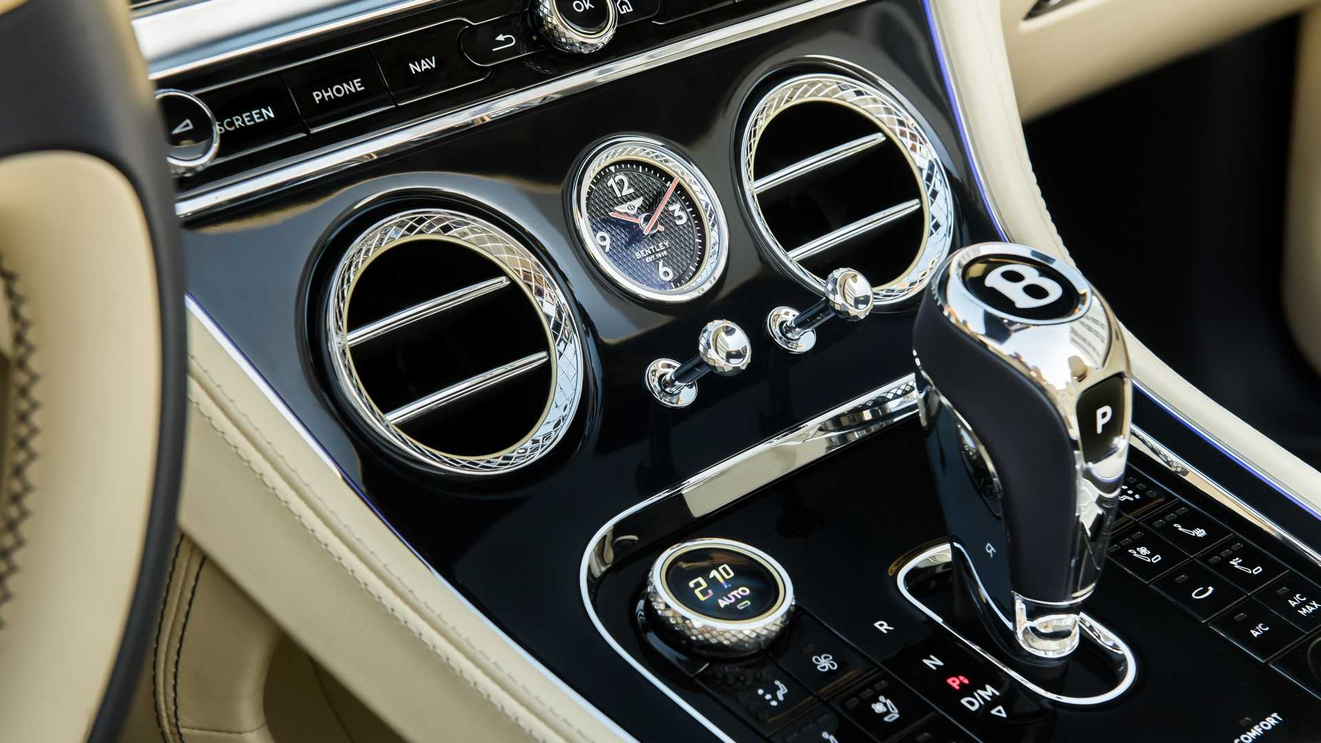 2020 Bentley Continental GT V8 Convertible Interior Detail Wallpapers (15)