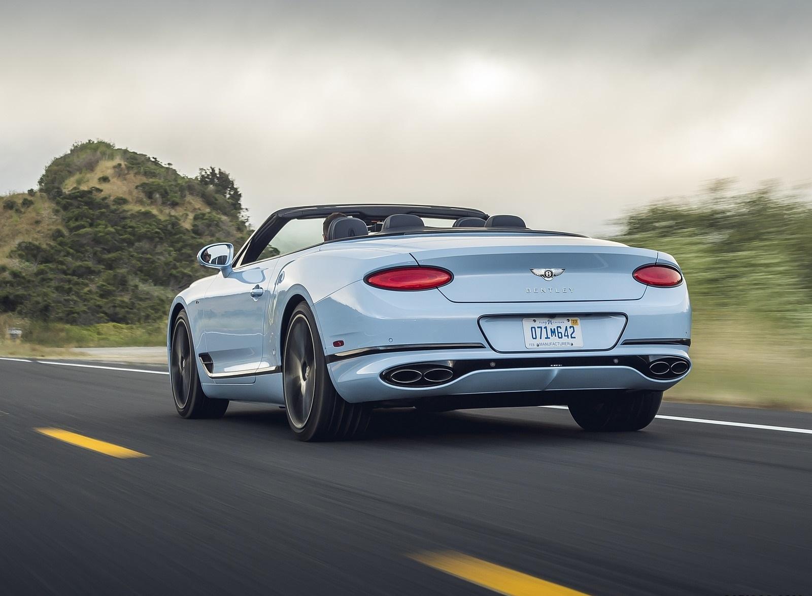 2020 Bentley Continental GT V8 Convertible Rear Three-Quarter Wallpapers (11)