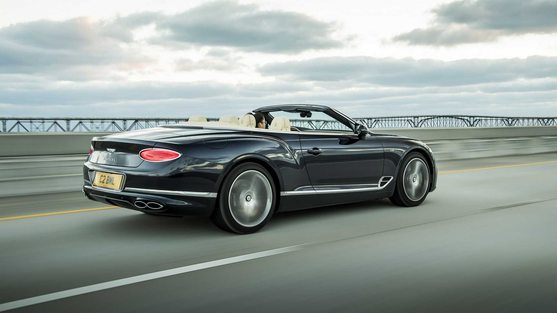 2020 Bentley Continental GT V8 Convertible Rear Three-Quarter Wallpapers (4)