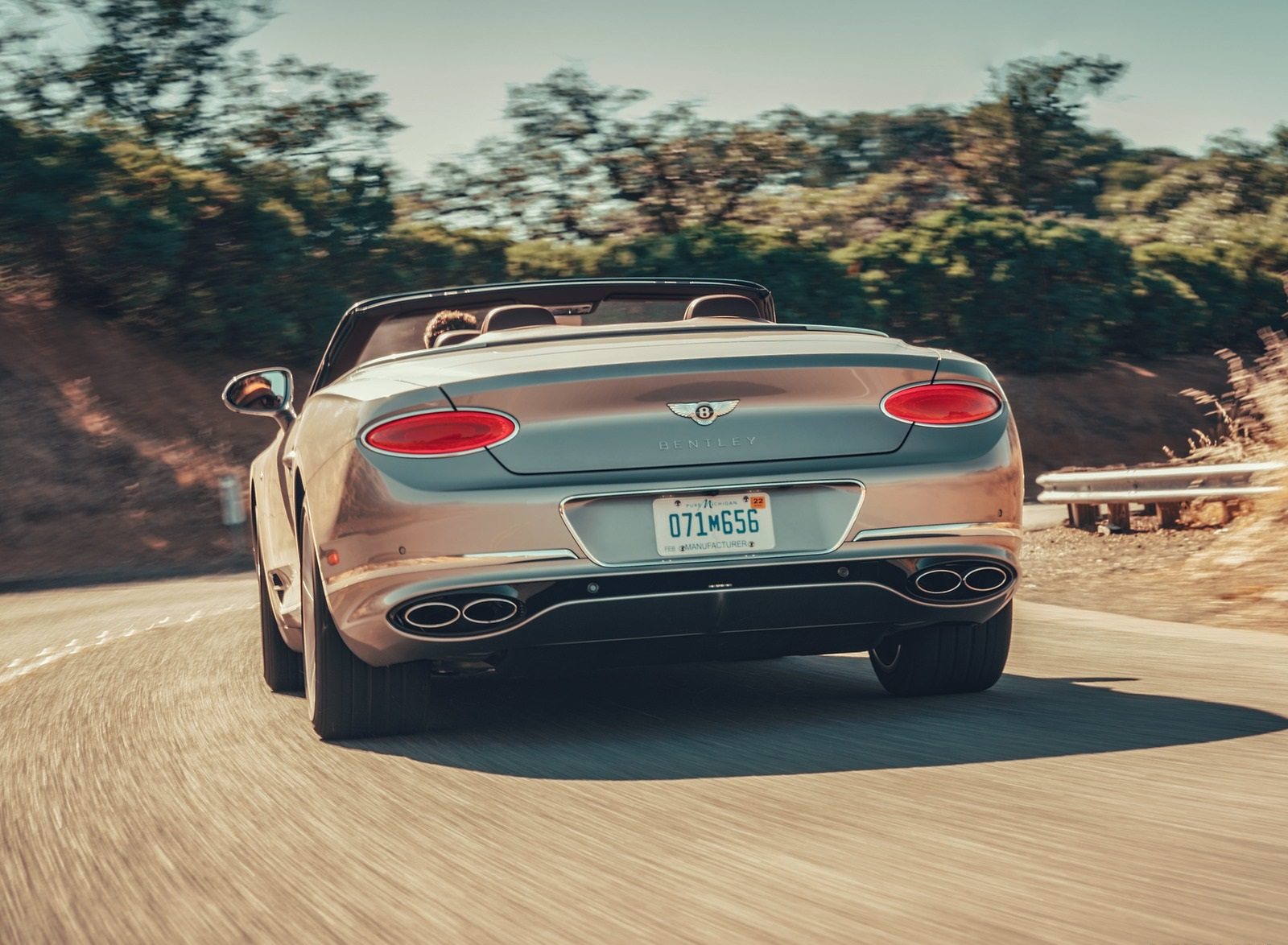 2020 Bentley Continental GT V8 Convertible Rear Wallpapers #42 of 111