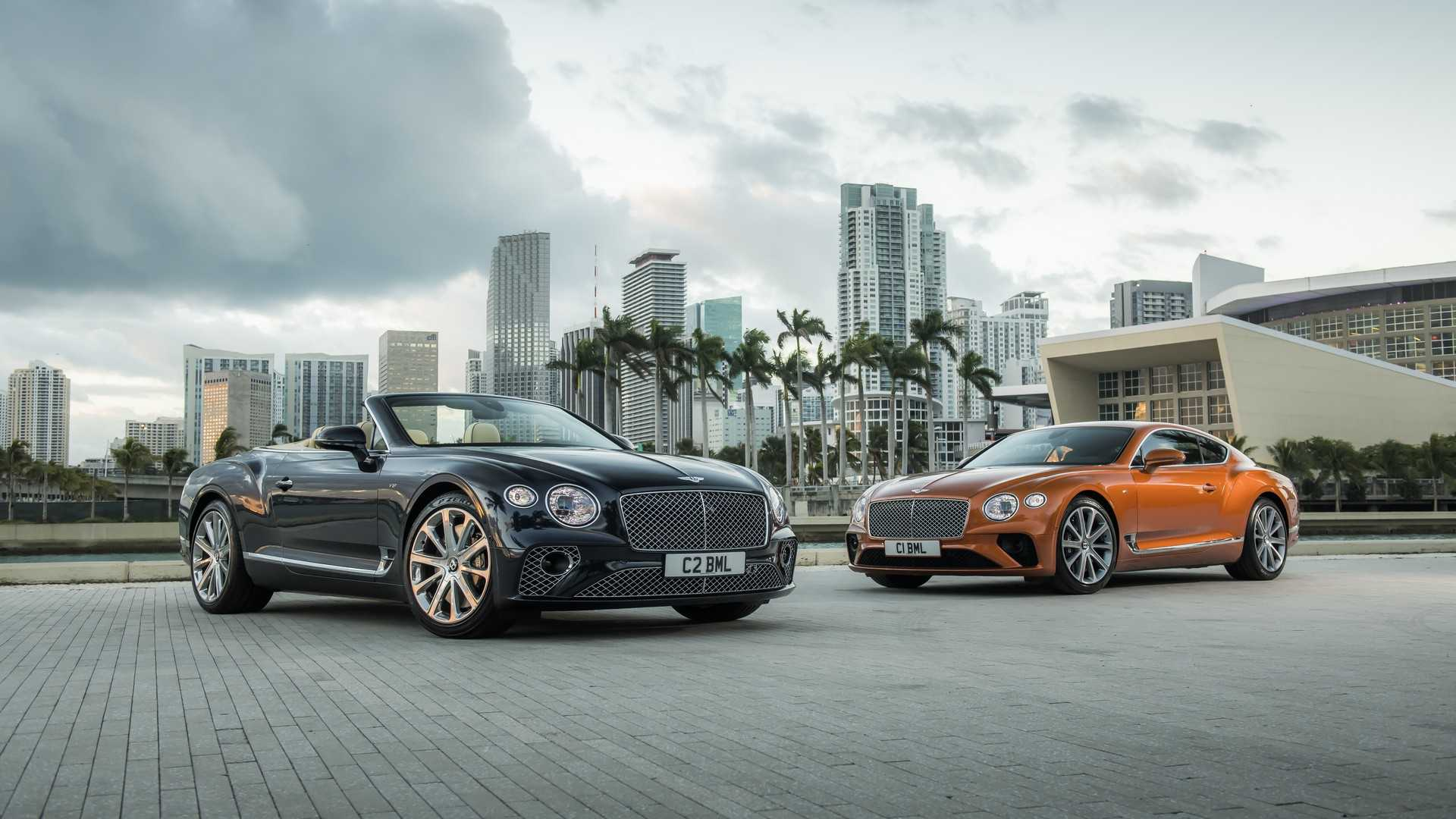 2020 Bentley Continental GT V8 Convertible and 2020 Bentley Continental GT V8 Coupe Front Three-Quarter Wallpapers (6)