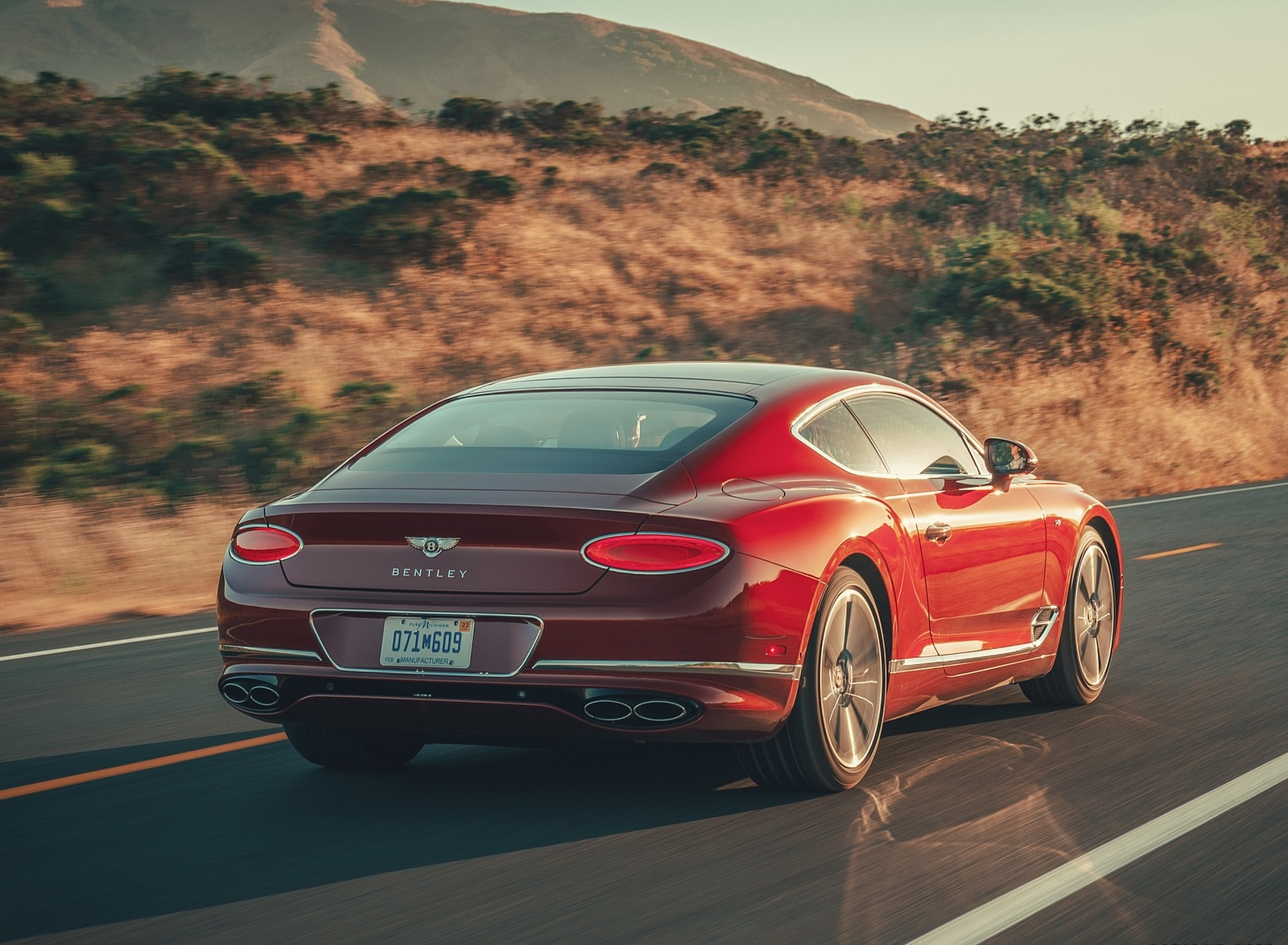 2020 Bentley Continental GT V8 Coupe Rear Three-Quarter Wallpapers (5)
