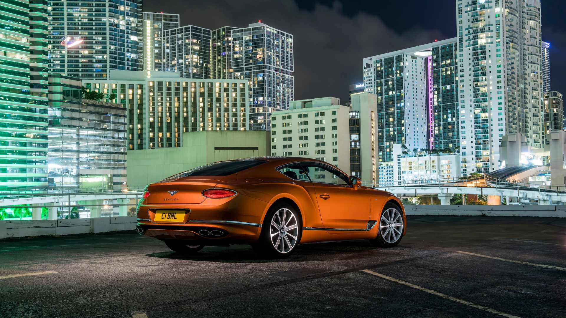 2020 Bentley Continental GT V8 Coupe Rear Three-Quarter Wallpapers (15)