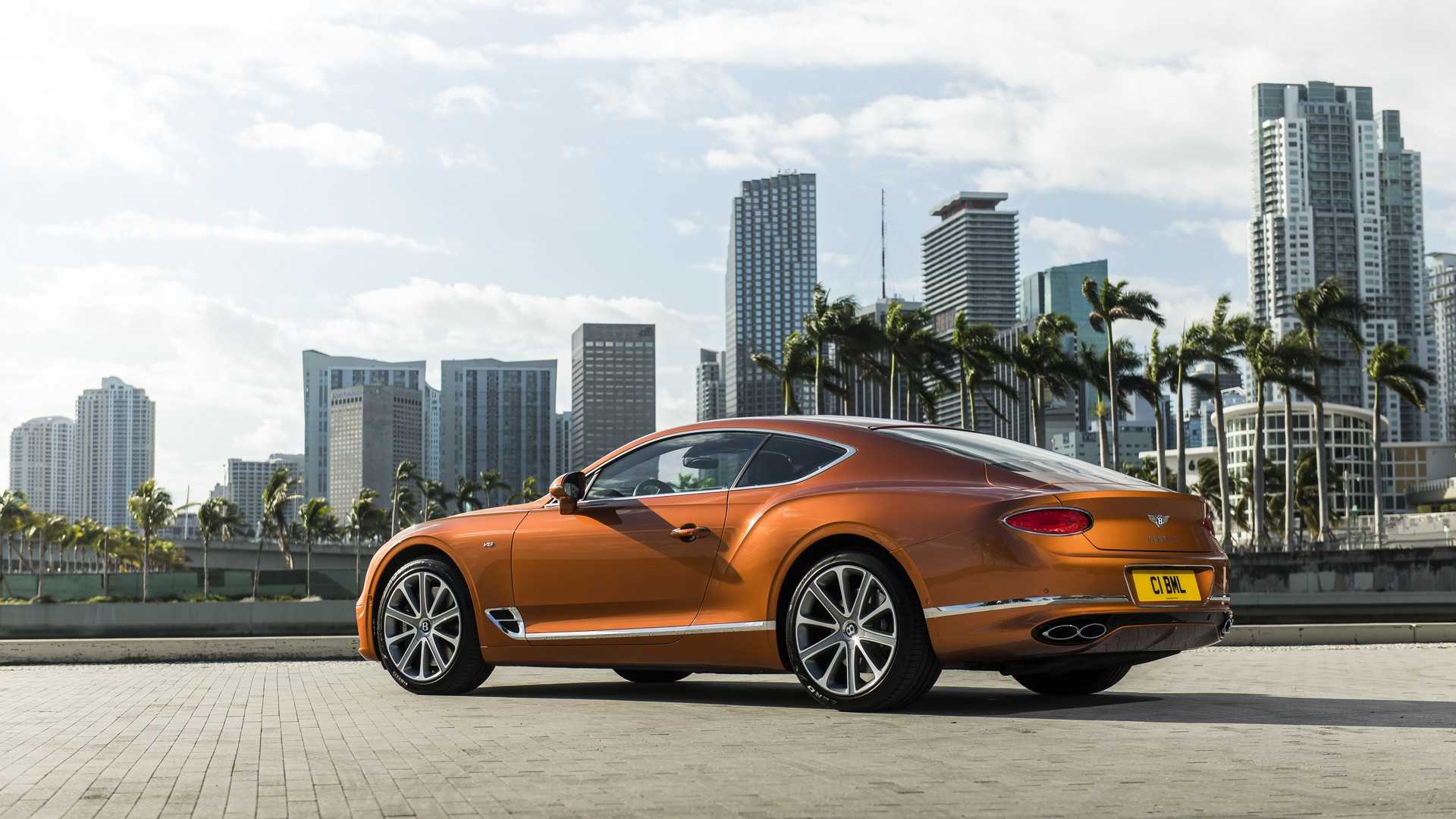 2020 Bentley Continental GT V8 Coupe Rear Three-Quarter Wallpapers (8)