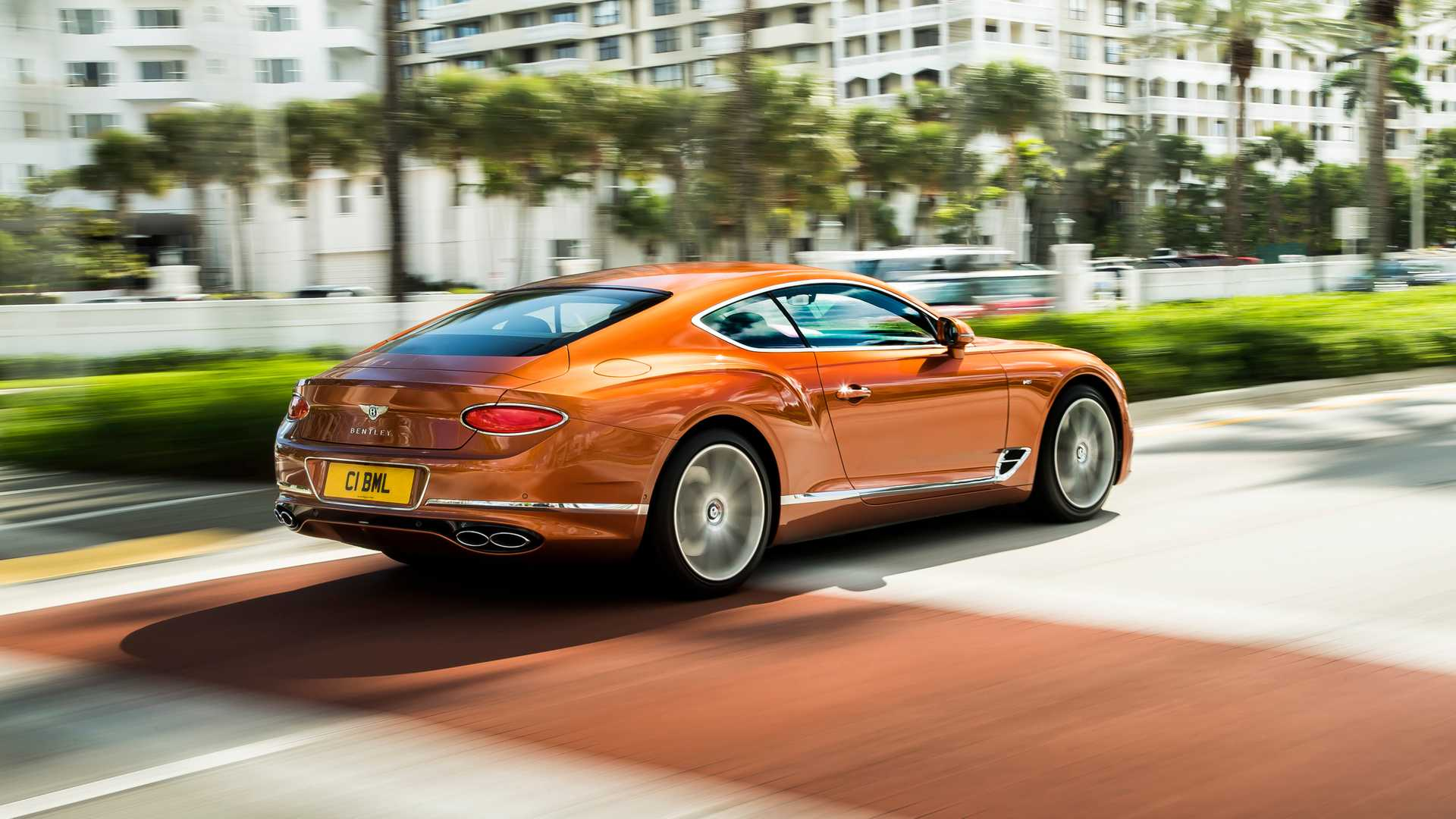 2020 Bentley Continental GT V8 Coupe Rear Three-Quarter Wallpapers (4)