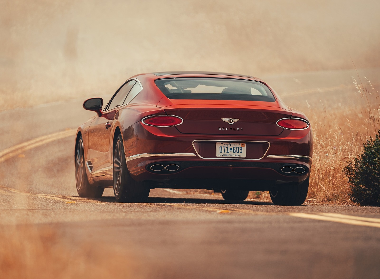 2020 Bentley Continental GT V8 Coupe Rear Wallpapers (8)