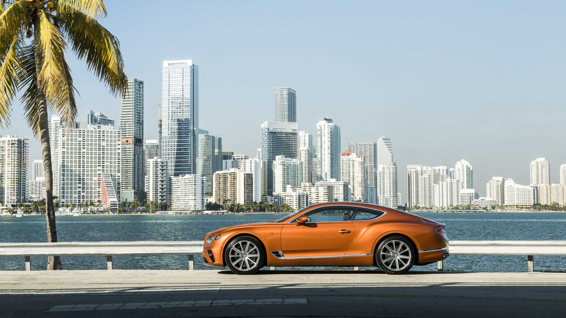 2020 Bentley Continental GT V8 Coupe Side Wallpapers (9)