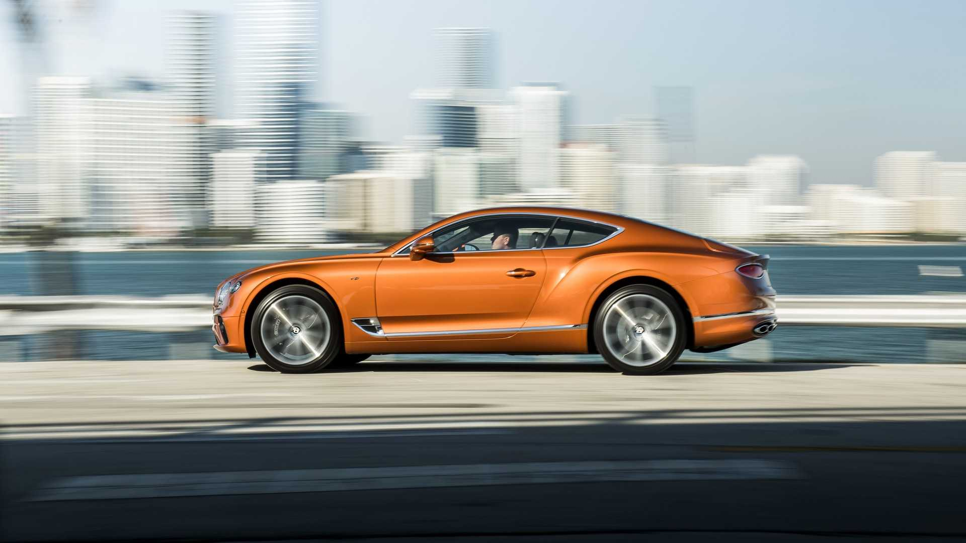 2020 Bentley Continental GT V8 Coupe Side Wallpapers (5)