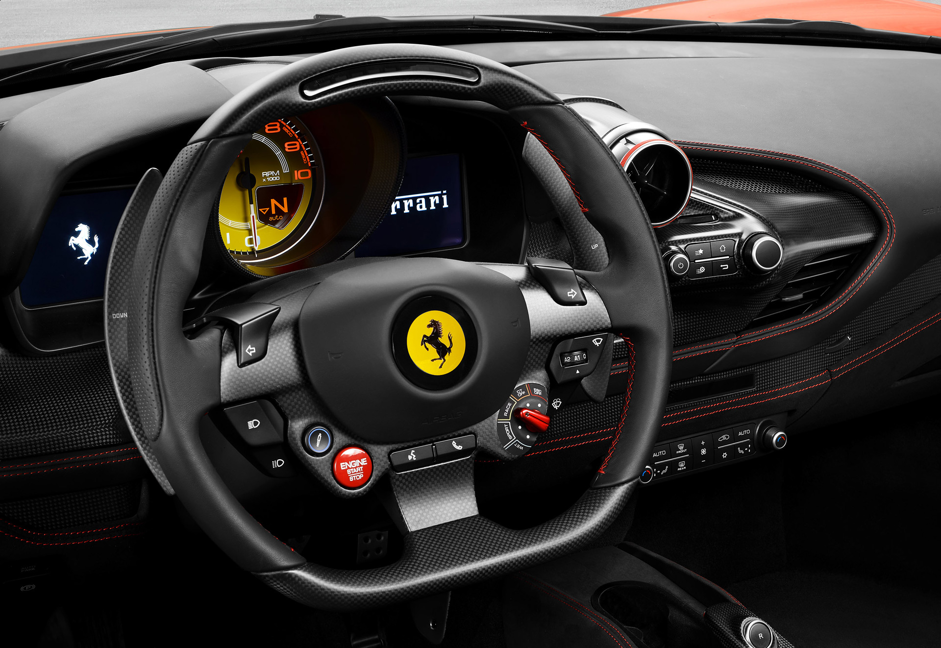 2020 Ferrari F8 Tributo Interior Steering Wheel Wallpaper (7)