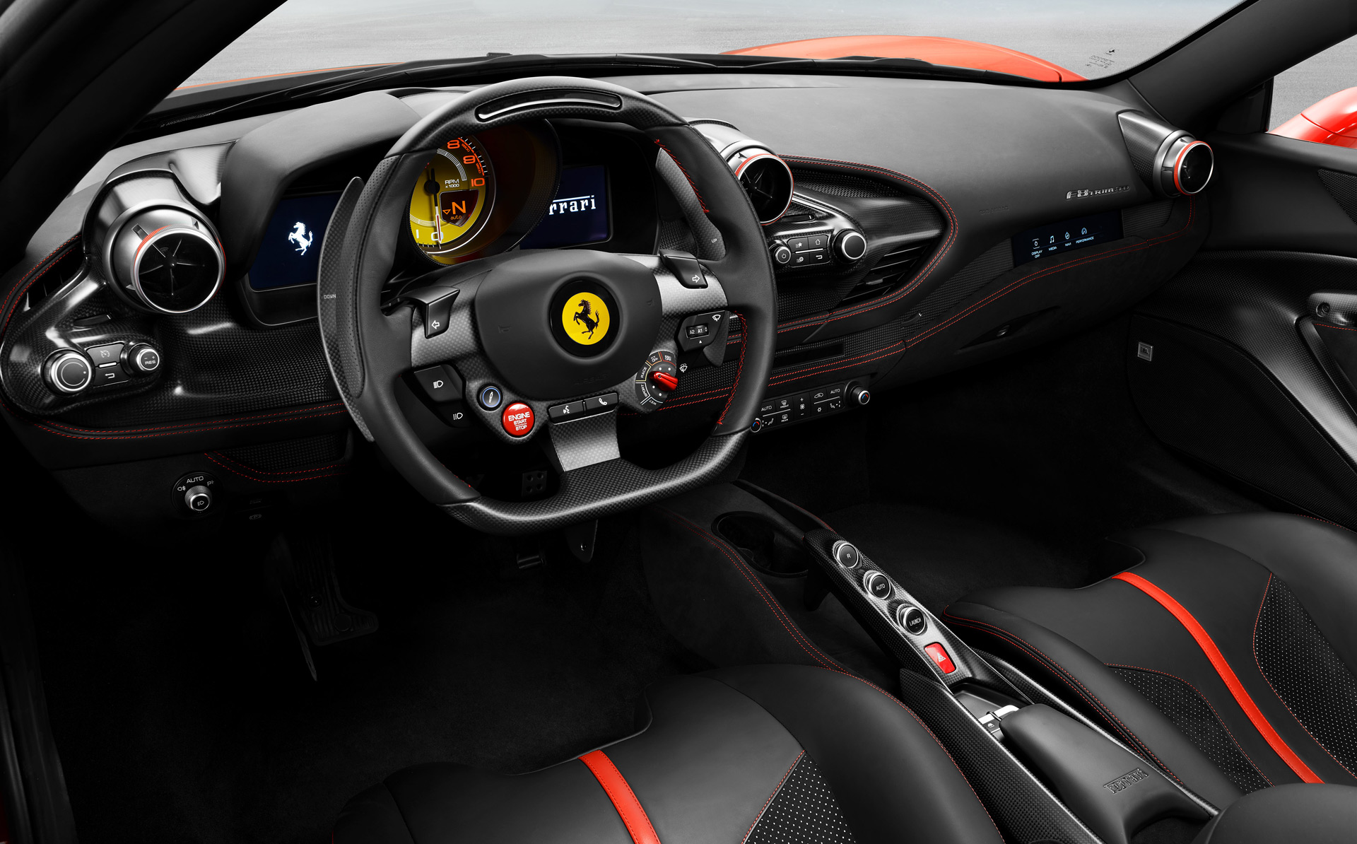 2020 Ferrari F8 Tributo Interior Wallpaper (6)