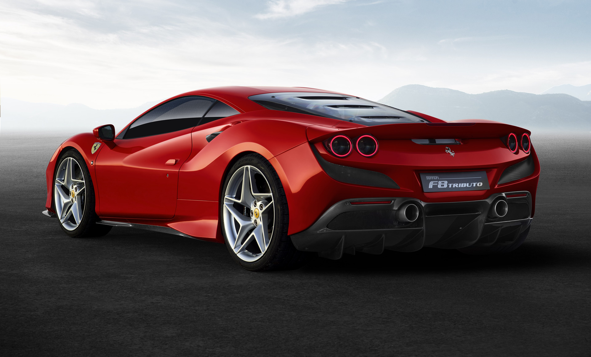 2020 Ferrari F8 Tributo Rear Three-Quarter Wallpaper (4)