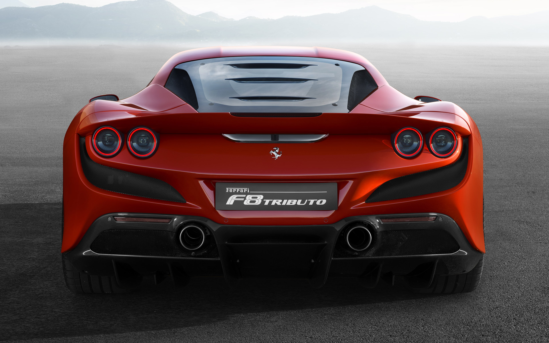 2020 Ferrari F8 Tributo Rear Wallpaper (5)