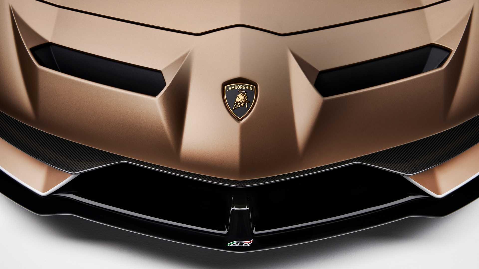 2020 Lamborghini Aventador Svj Roadster Badge Wallpaper 32 Hd