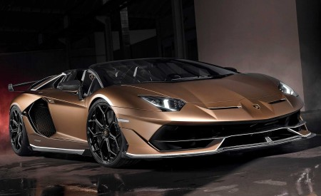 2020 Lamborghini Aventador SVJ Roadster Front Three-Quarter Wallpaper 450x275 (7)