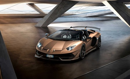 2020 Lamborghini Aventador SVJ Roadster Front Three-Quarter Wallpaper 450x275 (10)