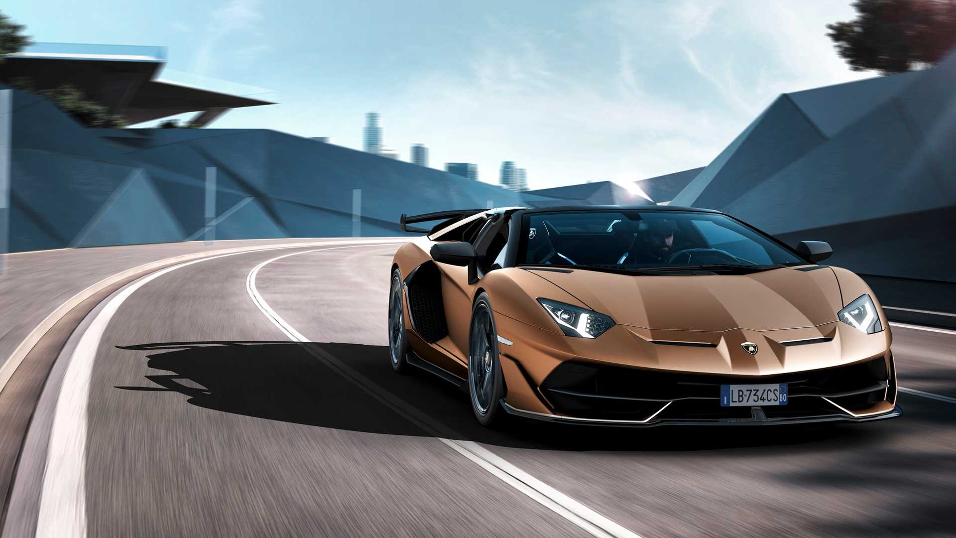 2020 Lamborghini Aventador SVJ Roadster Front Three-Quarter Wallpapers (1)