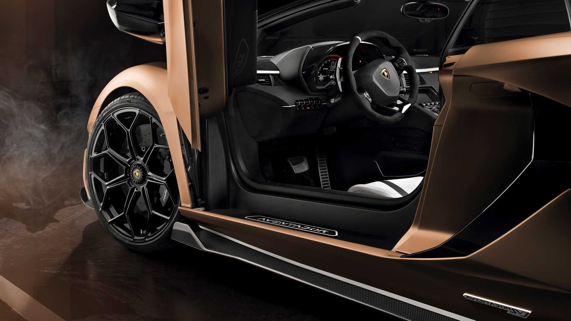 2020 Lamborghini Aventador Svj Roadster Interior Seats Wallpaper 18