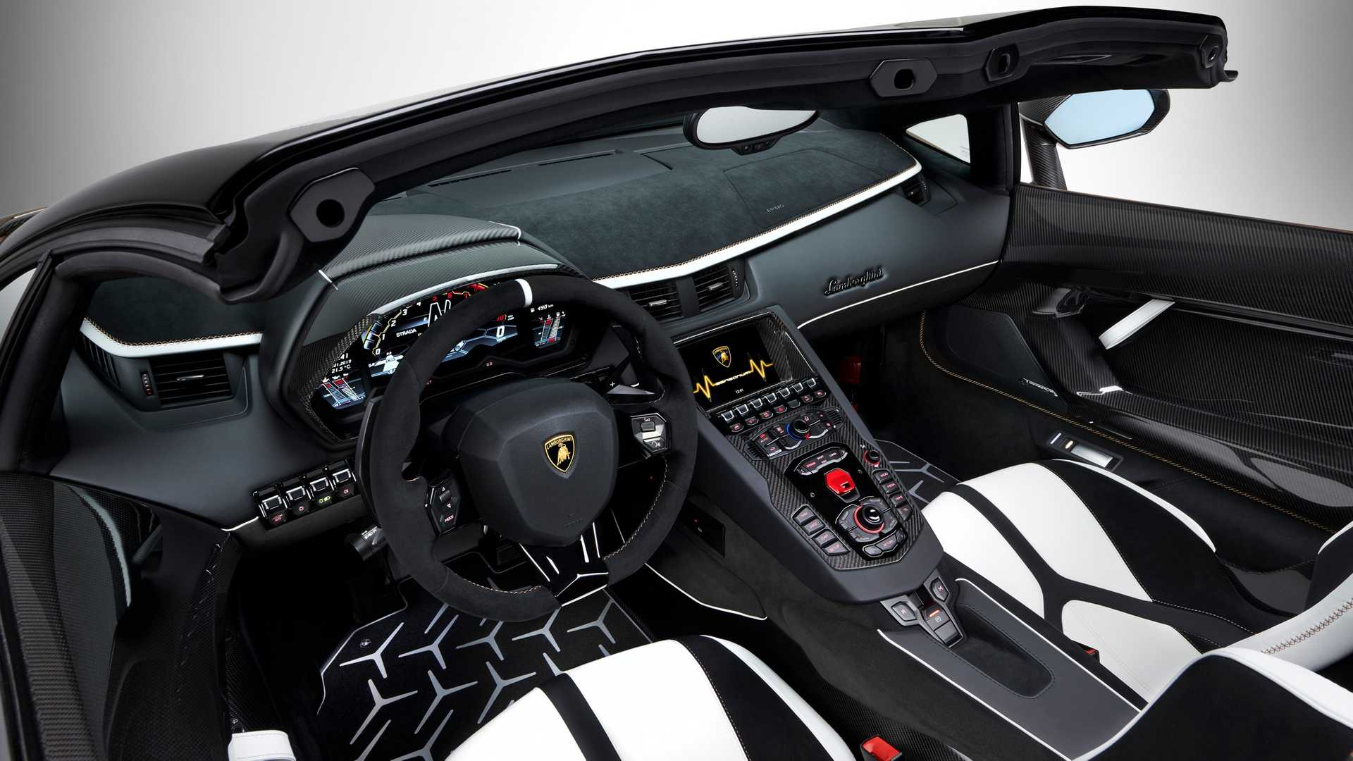2020 Lamborghini Aventador Svj Roadster Interior Wallpaper 20 Hd