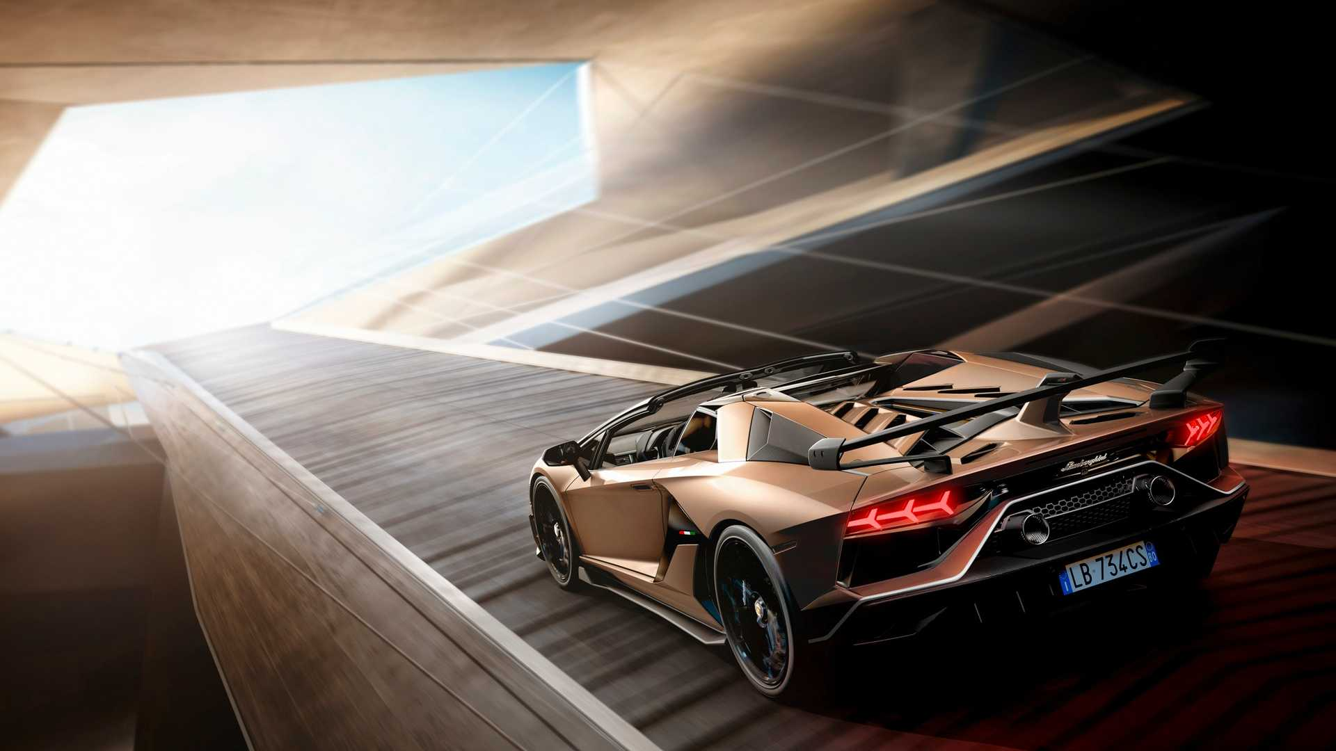 2020 Lamborghini Aventador SVJ Roadster Rear Three-Quarter Wallpapers (3)