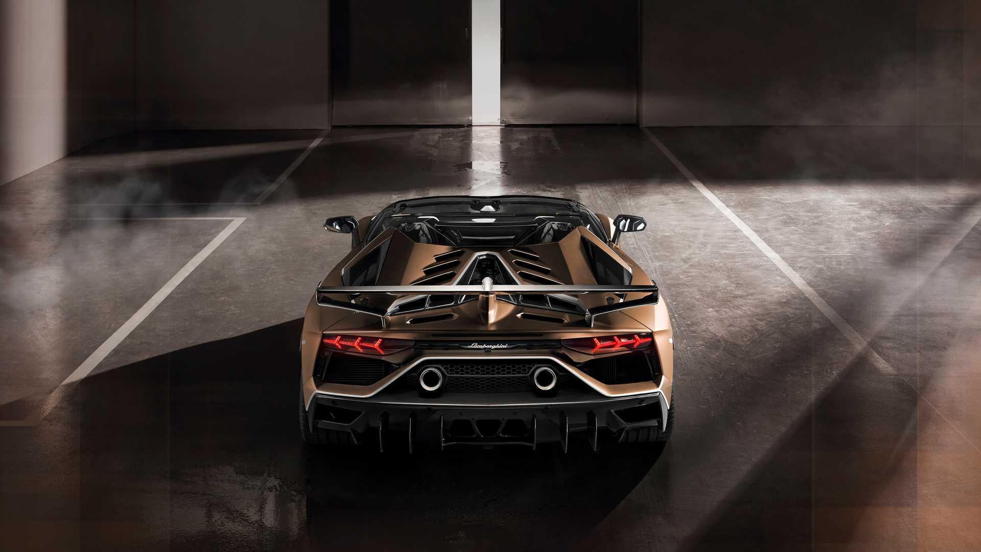 2020 Lamborghini Aventador SVJ Roadster Rear Wallpaper (13)