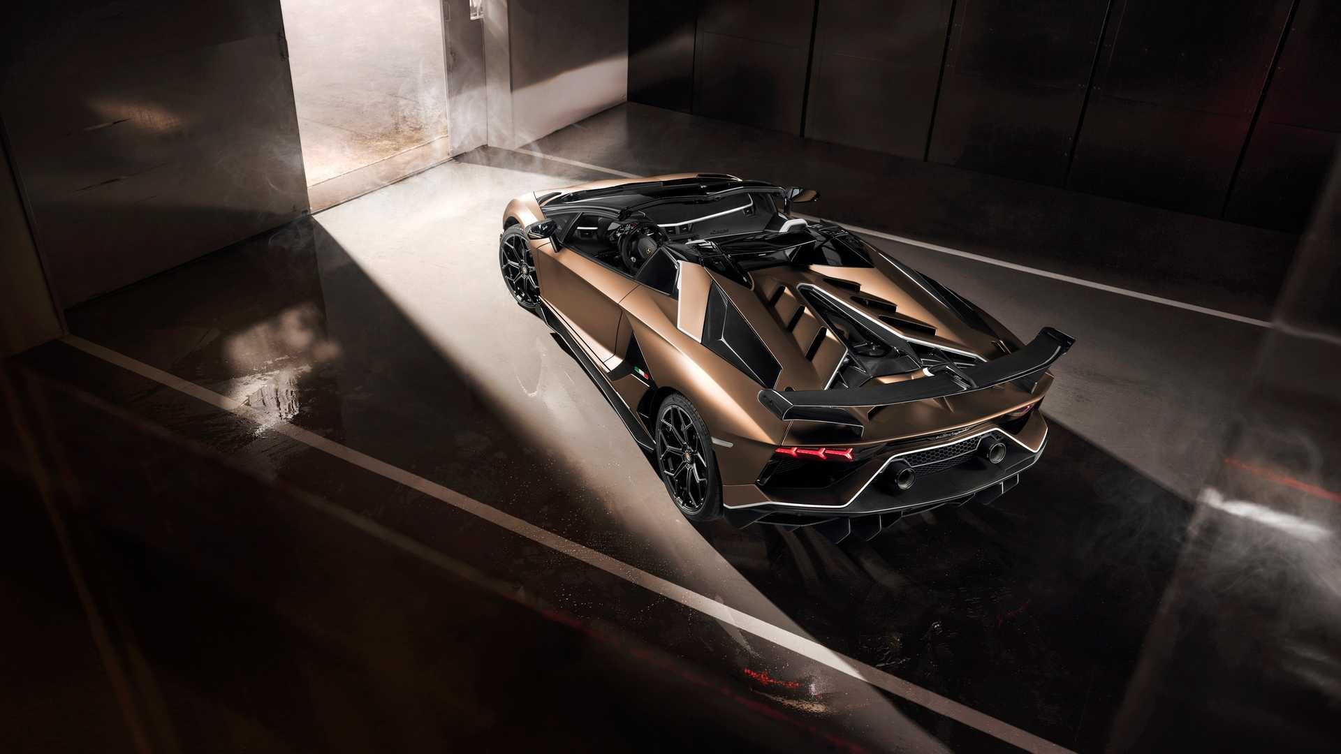 2020 Lamborghini Aventador SVJ Roadster Rear Wallpapers (4)