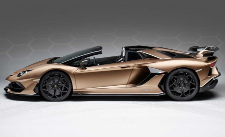 2020 Lamborghini Aventador SVJ Roadster Side Wallpaper 450x275 (27)