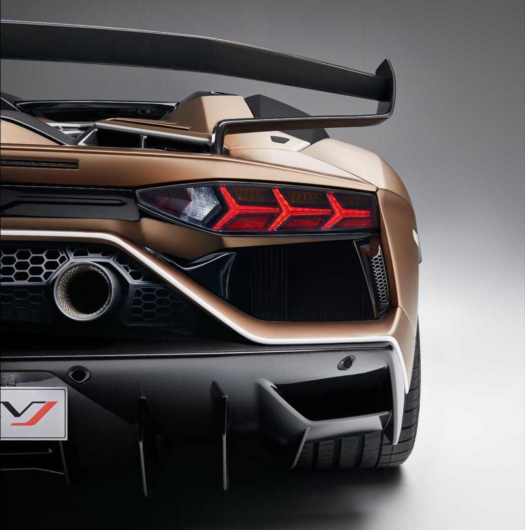 2020 Lamborghini Aventador Svj Roadster Tail Light Wallpaper 21